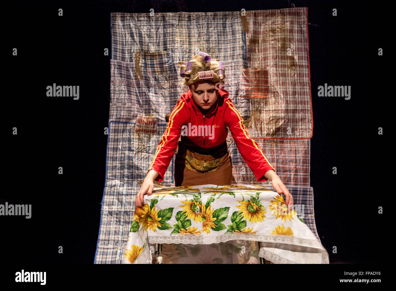 London, UK. 18th March, 2016. 'Eastern European For Dummies' migrant satire play performed at Rich Mix by There Stock Photo
