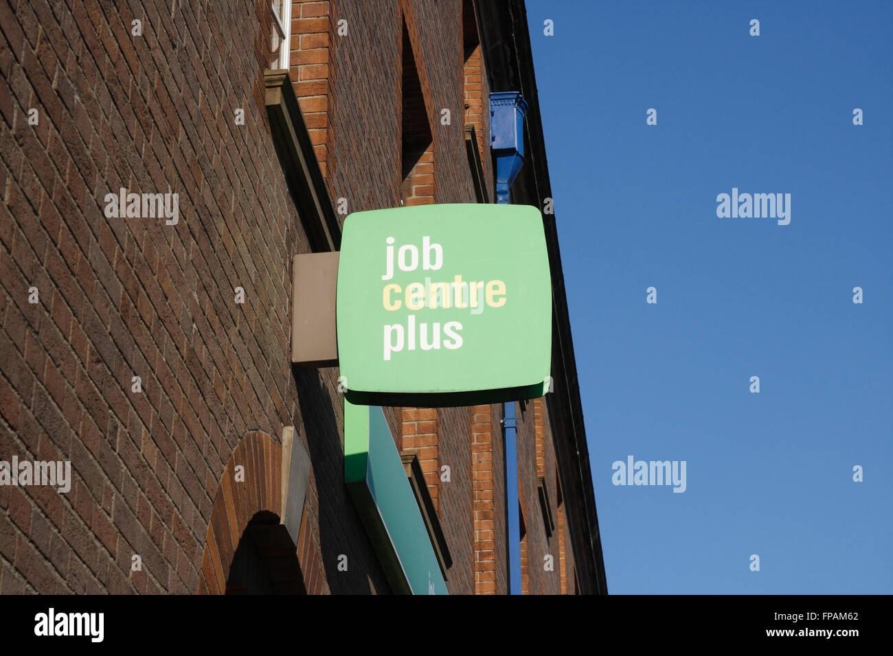 Job centre plus sign on building Stock Photo