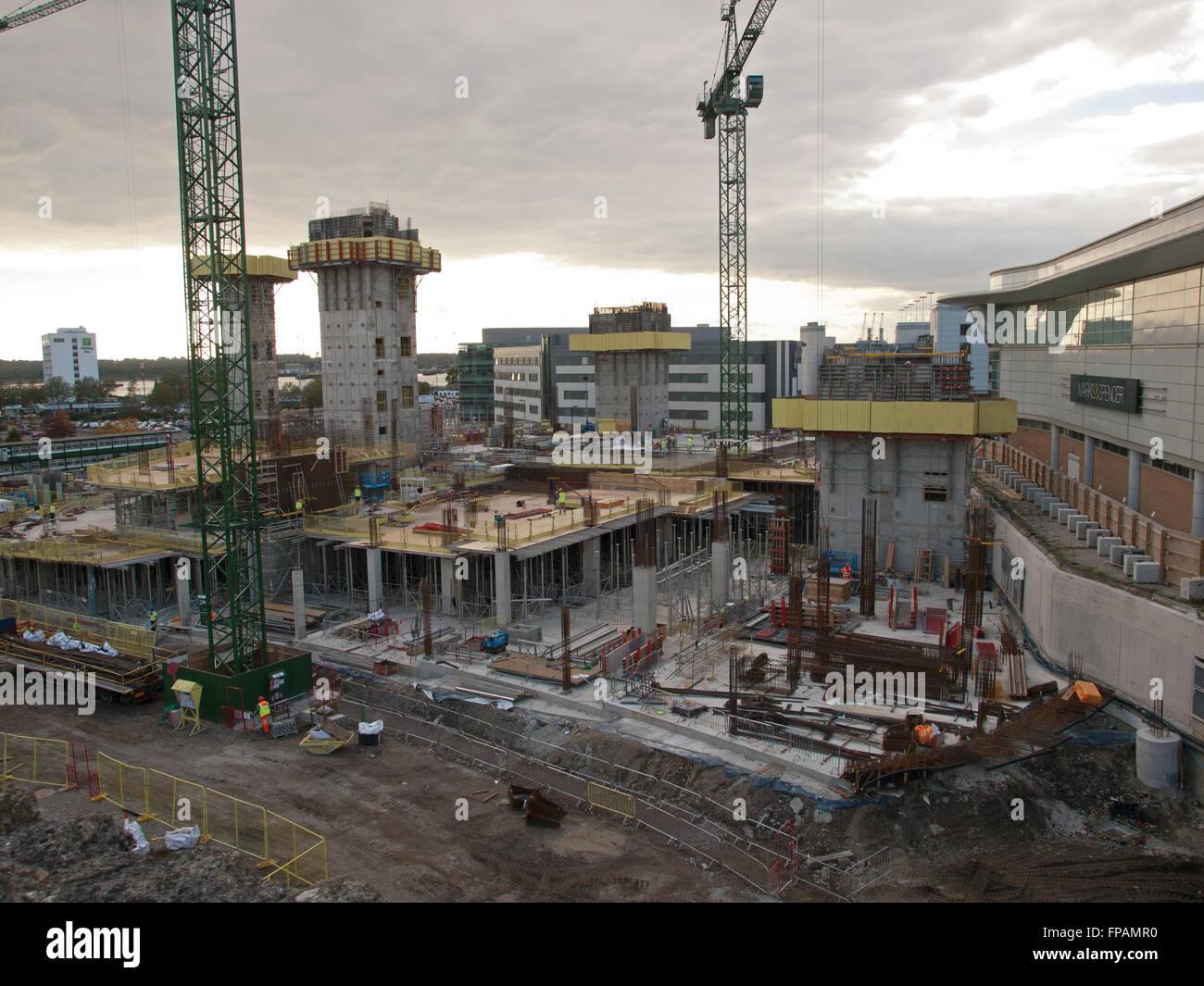 Construction of the West Quay Watermark development Southampton Hampshire UK Stock Photo