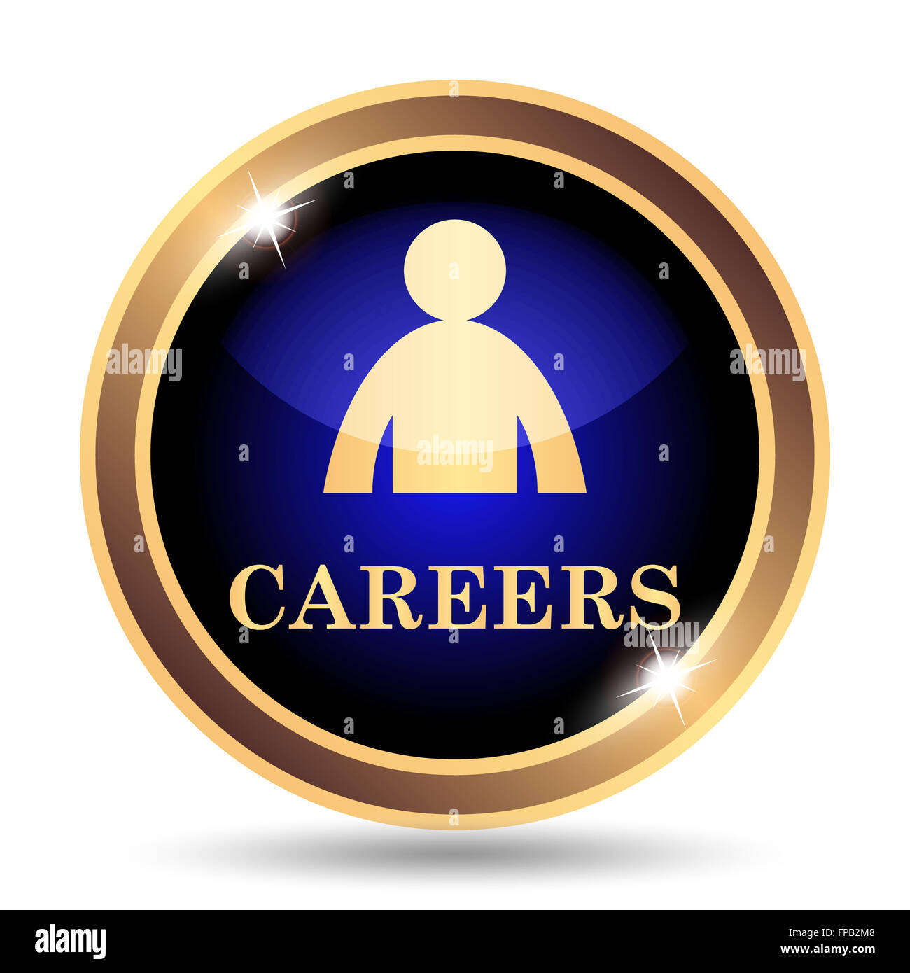 Careers icon. Internet button on white background. - Stock Image