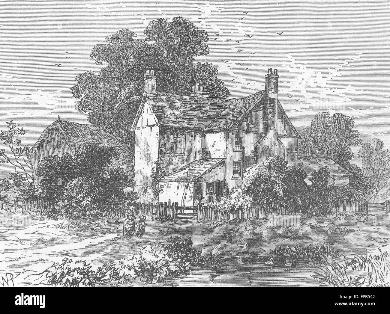 LONDON: Notting Hill: Portobello Farm, 1830, antique print 1880 - Stock Image