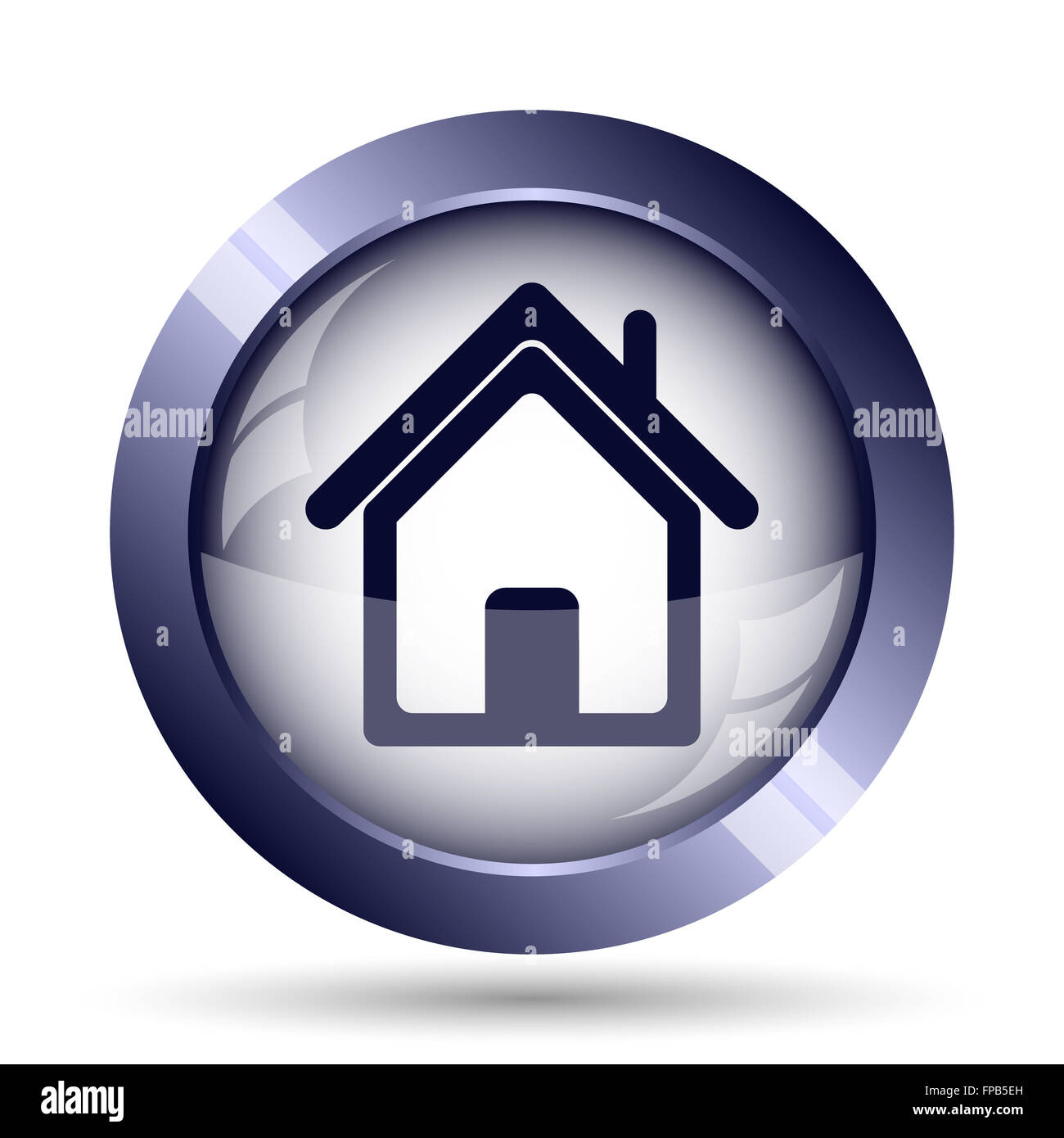 Home icon. Internet button on white background. - Stock Image