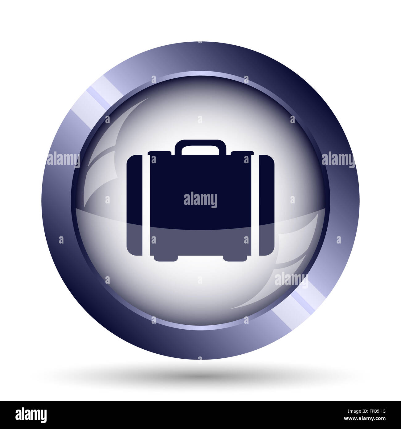 Suitcase icon. Internet button on white background. - Stock Image