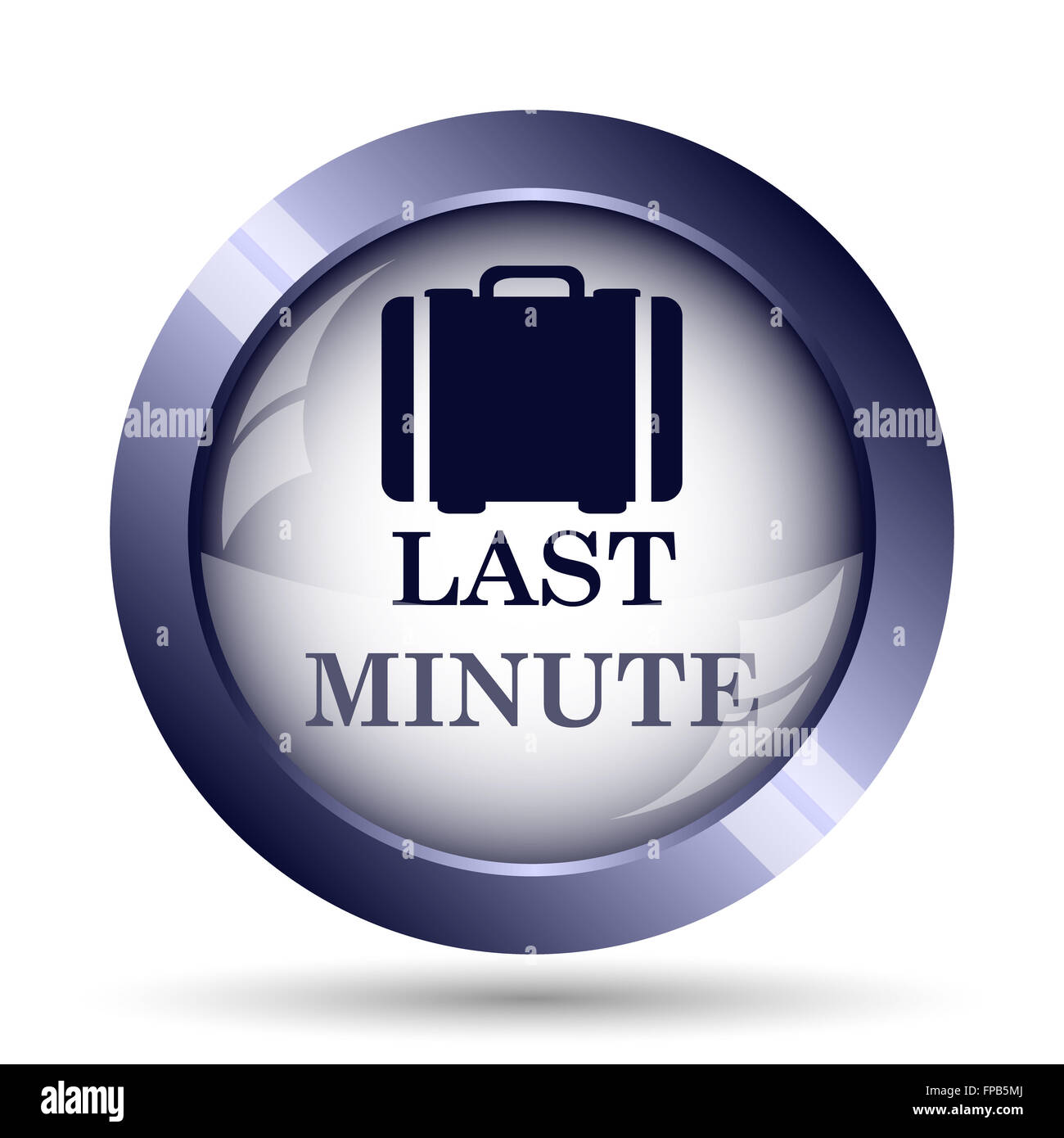 Last minute icon. Internet button on white background. - Stock Image
