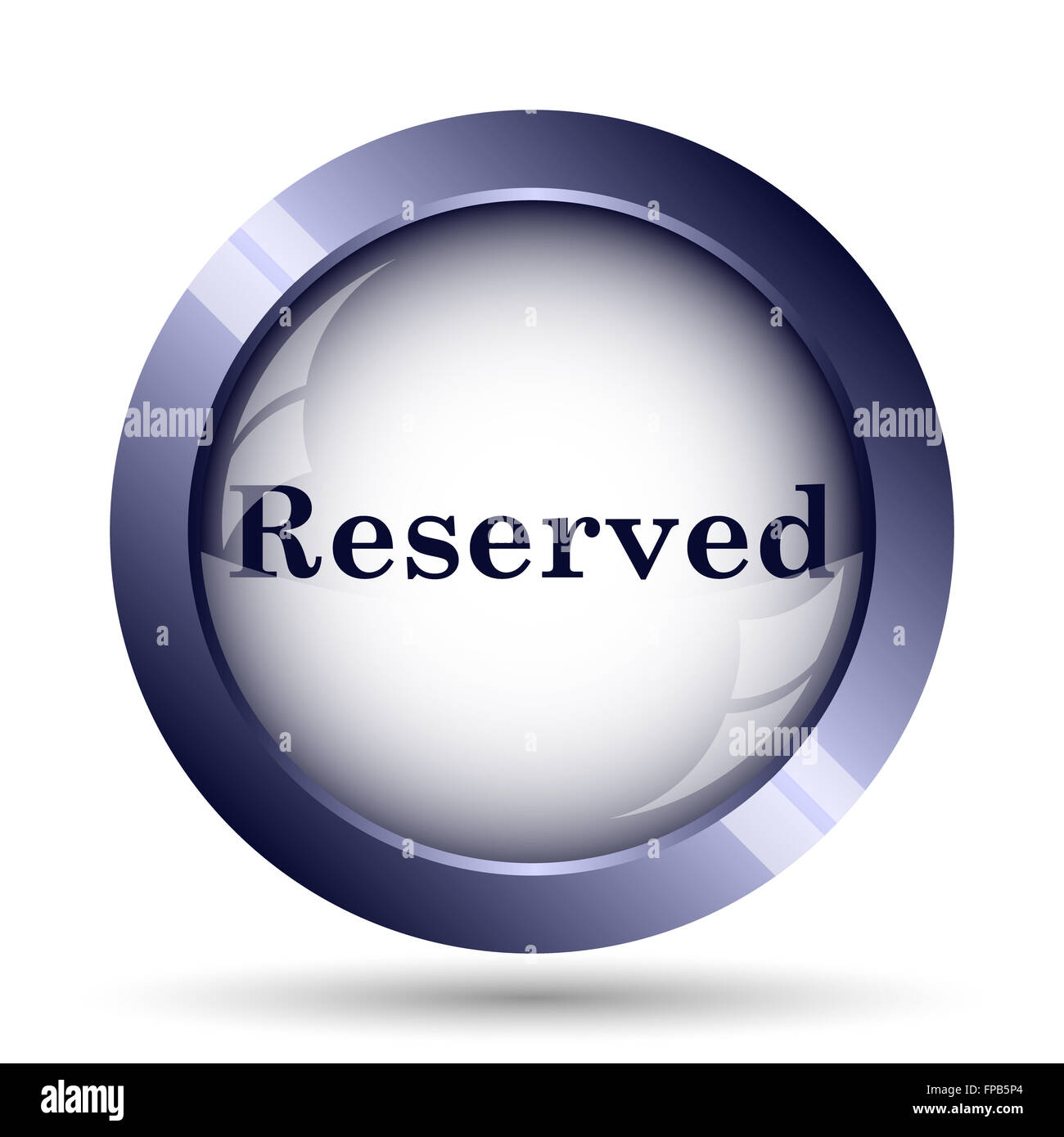 Reserved icon. Internet button on white background. - Stock Image
