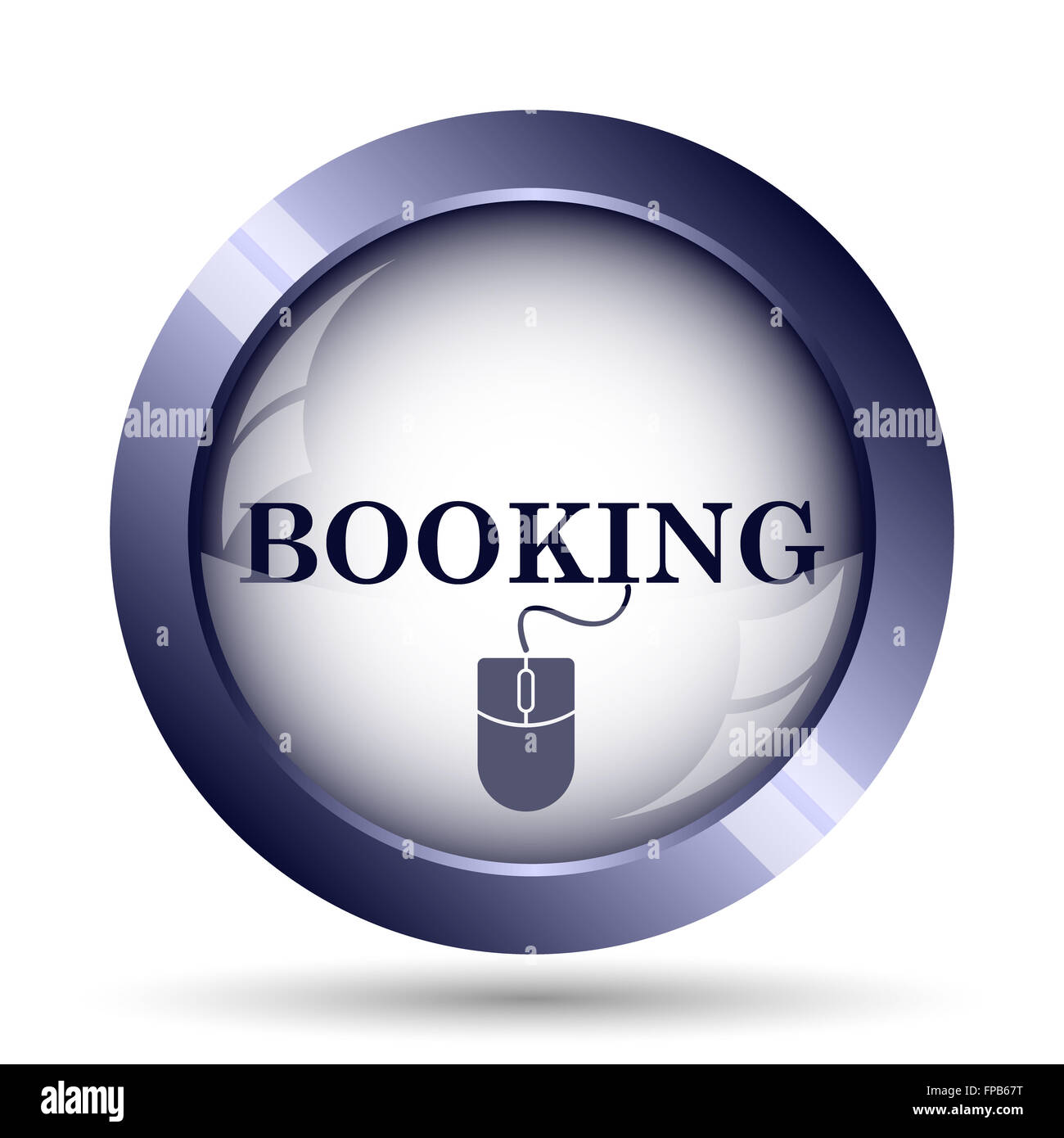 Booking icon. Internet button on white background. - Stock Image