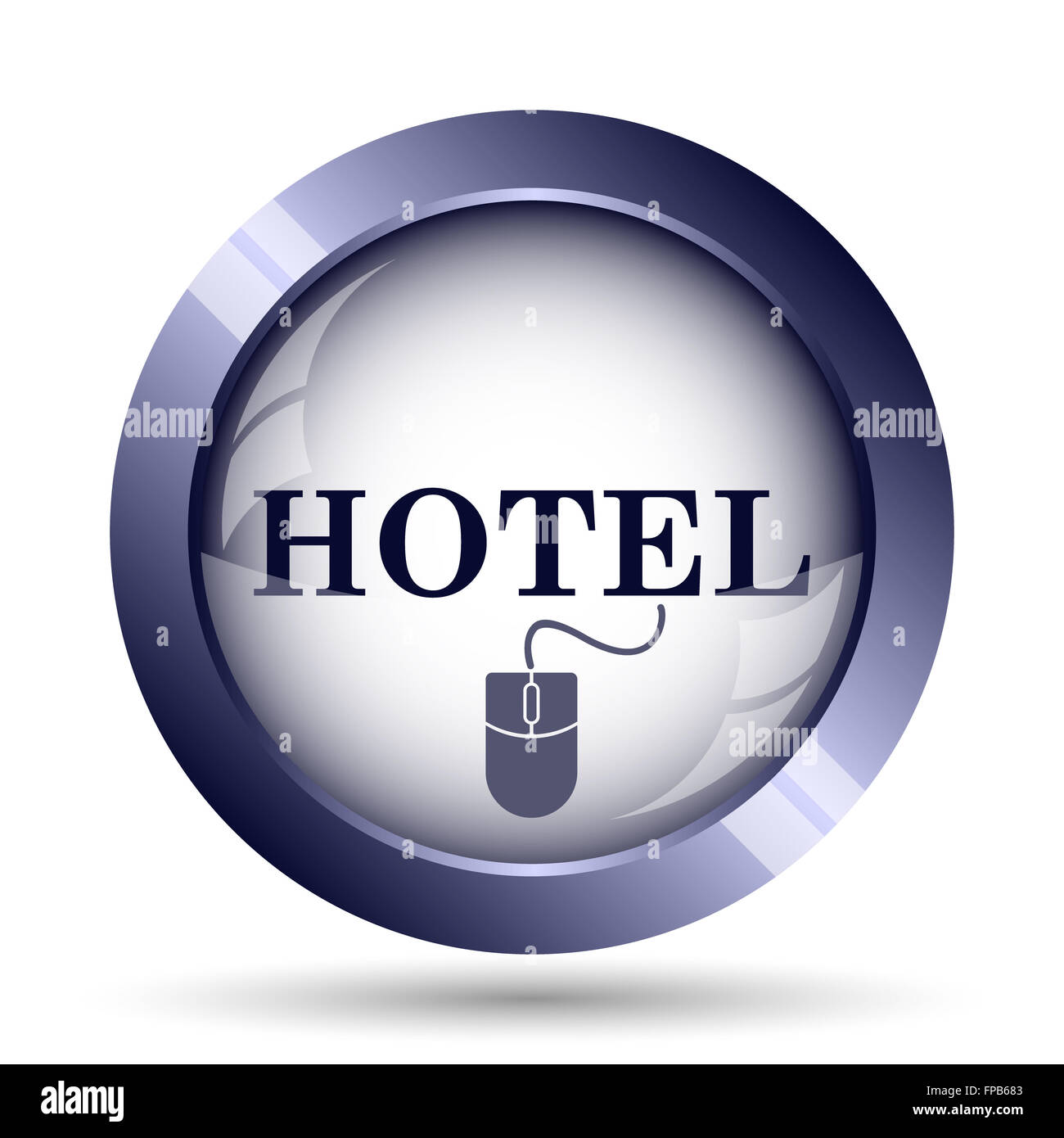 Hotel icon. Internet button on white background. - Stock Image