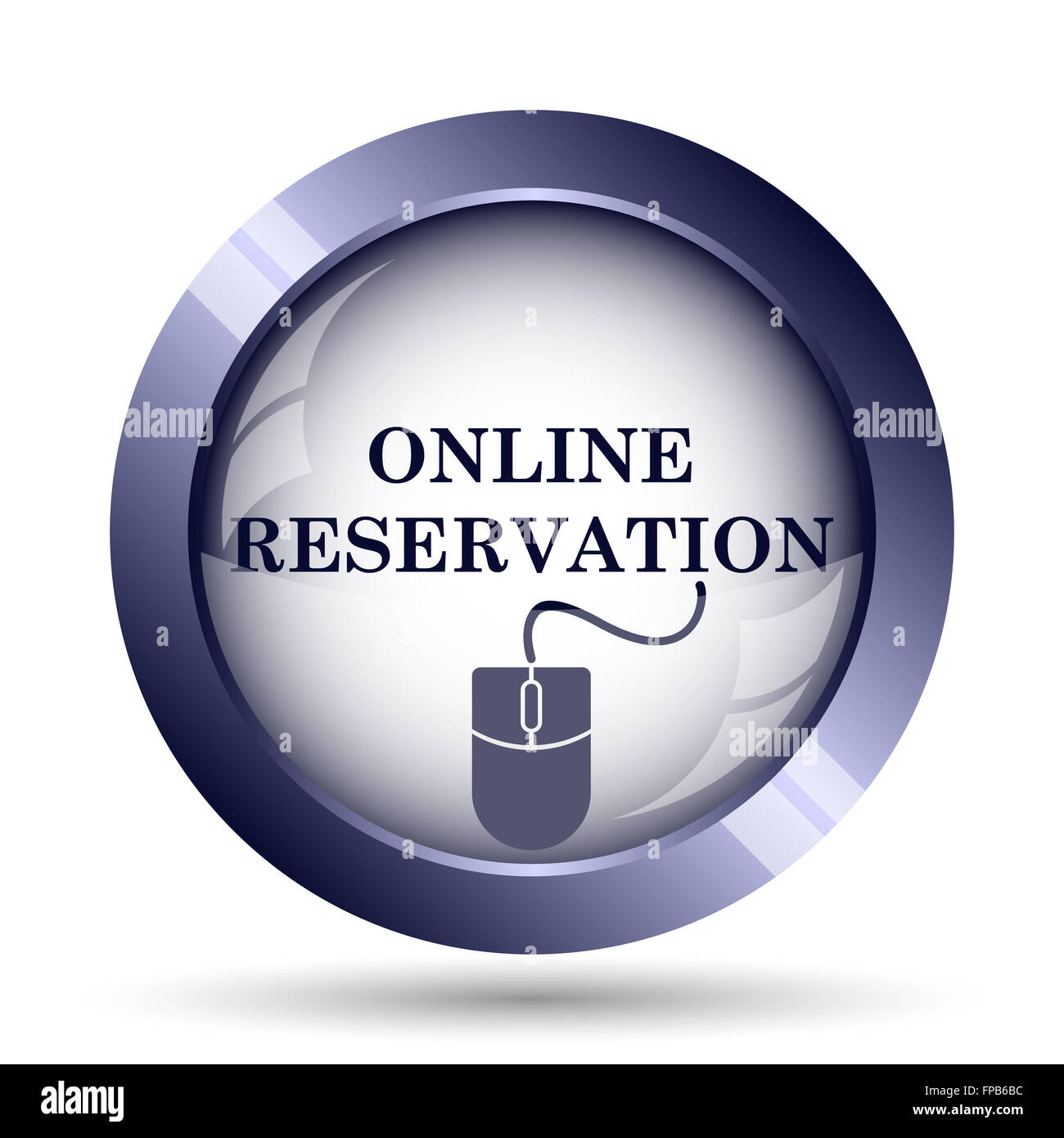 Online reservation icon. Internet button on white background. - Stock Image