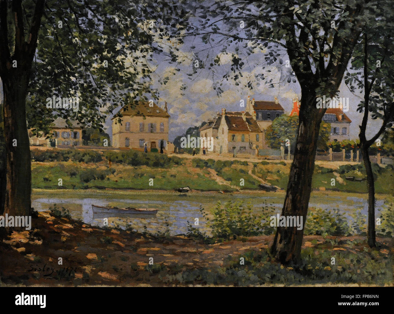 Alfred Sisley (1839-1899). French impressionist painter. Villeneuve-la-Garenne, 1872. Oil on canvas. The State Hermitage - Stock Image