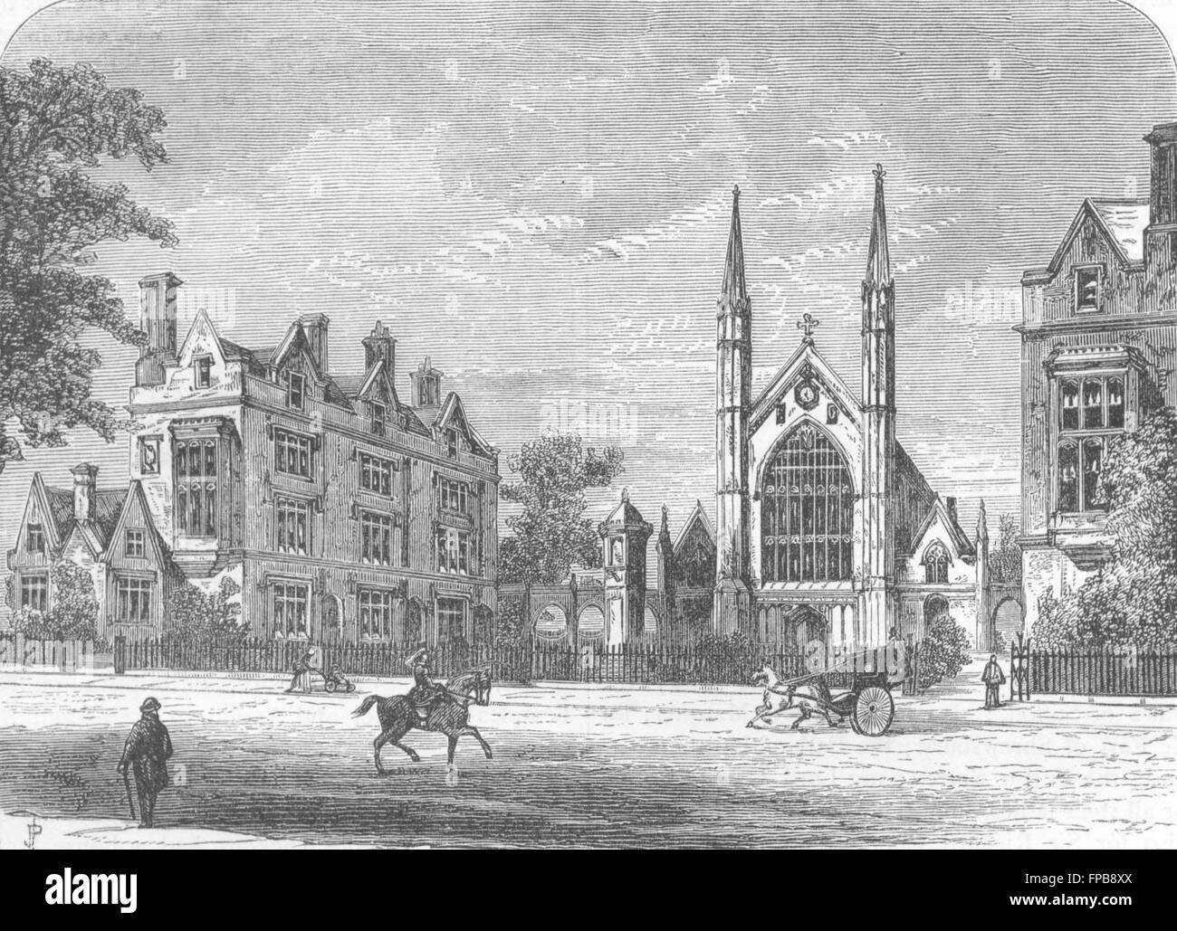 London Regent S Park St Katharine S Hospital Antique Print 1880 Stock Photo Alamy