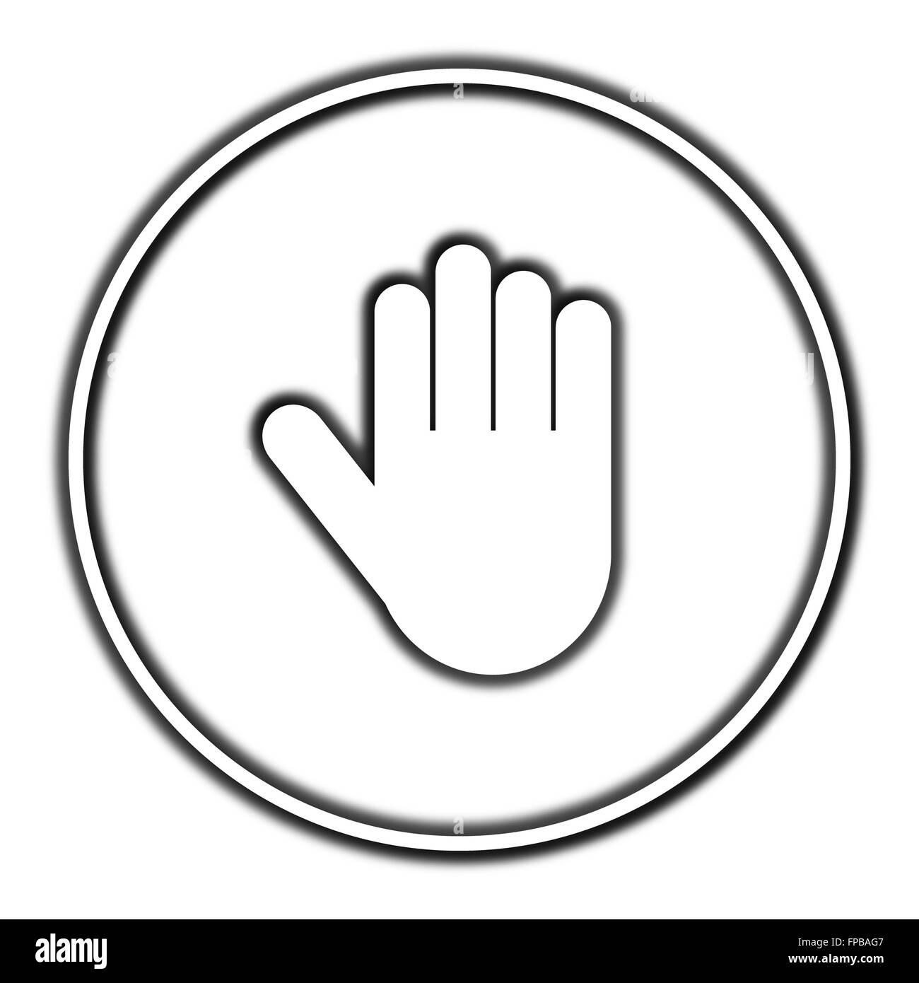 Stop icon  Internet button on white background Stock Photo