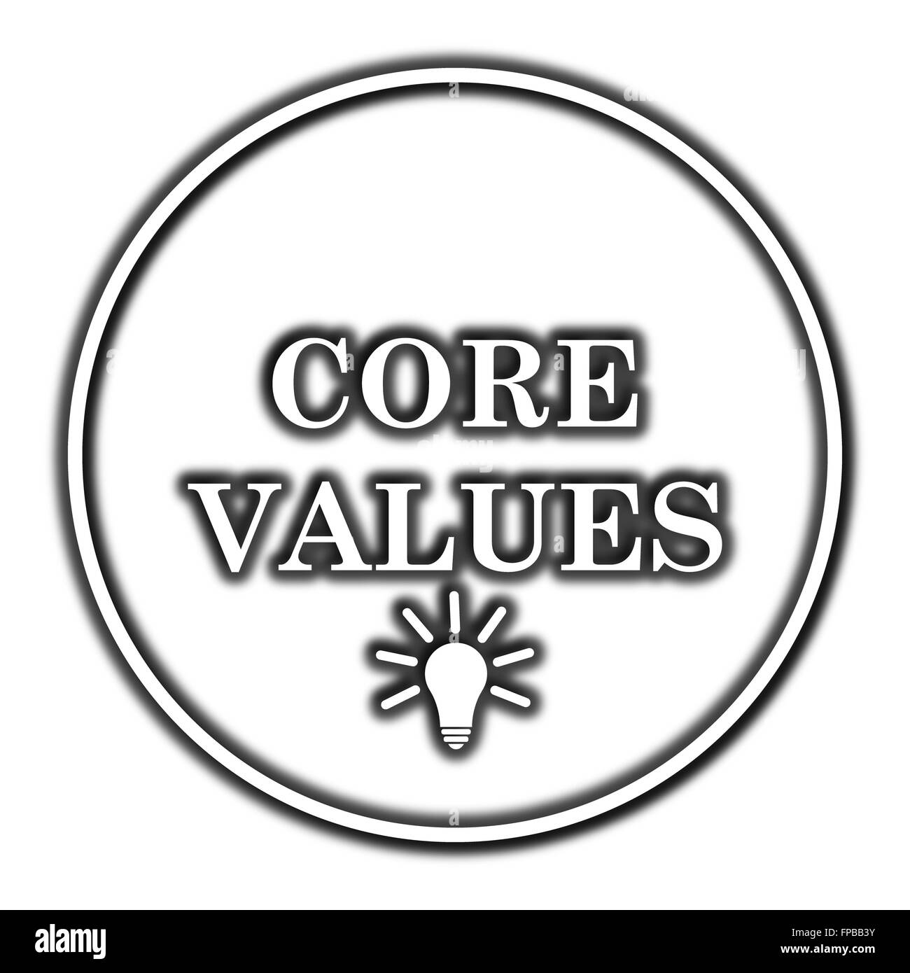 Core values icon. Internet button on white background. - Stock Image