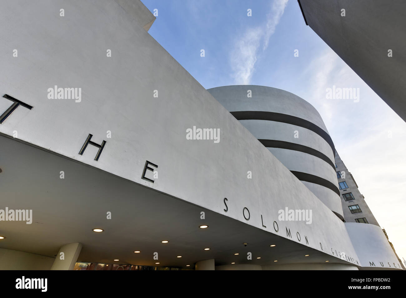 New York City - January 31, 2016: The famous Solomon R. Guggenheim Museum of modern and contemporary art in New York City, USA Stock Photo