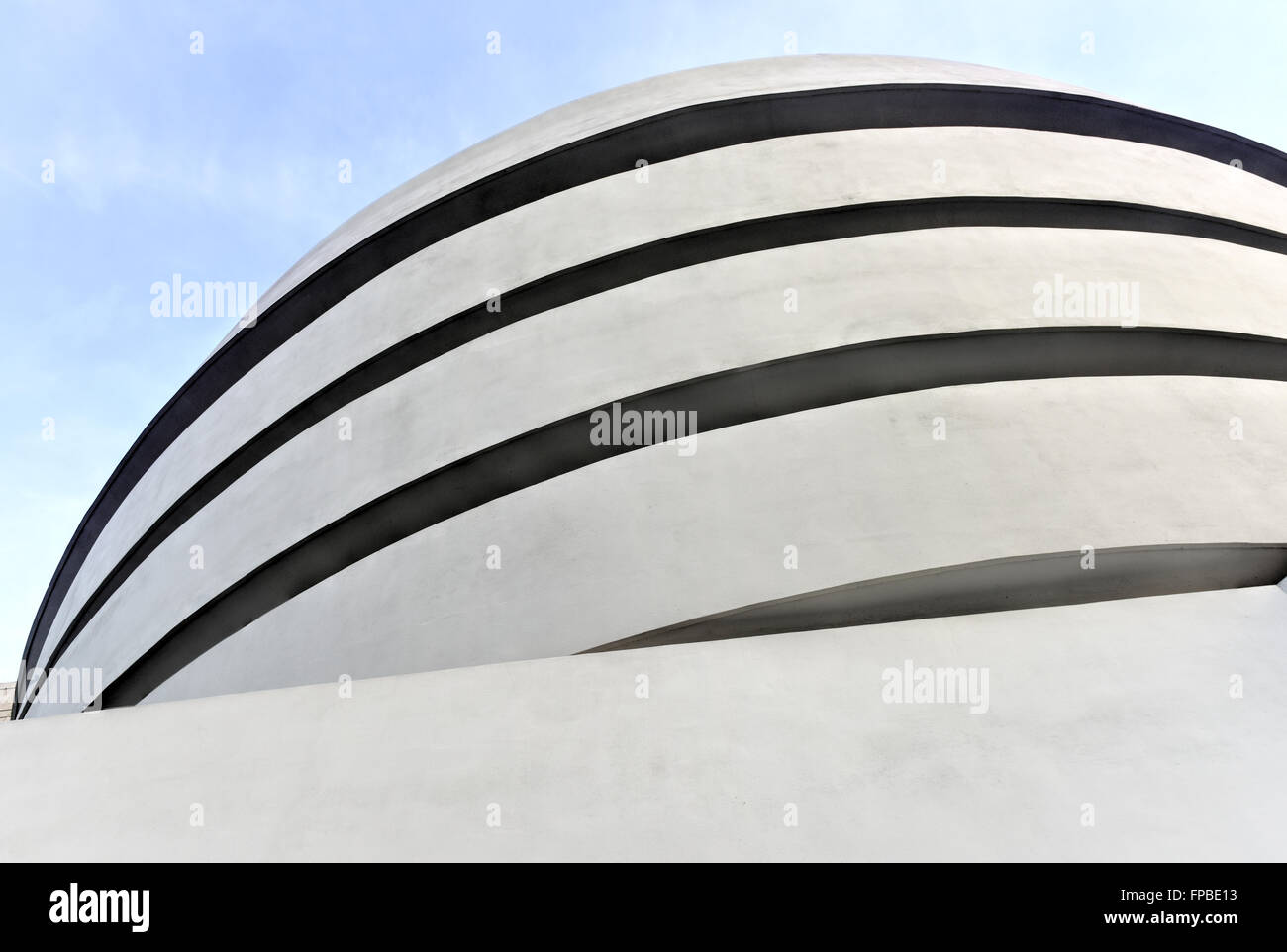 New York City - January 31, 2016: The famous Solomon R. Guggenheim Museum of modern and contemporary art in New - Stock Image