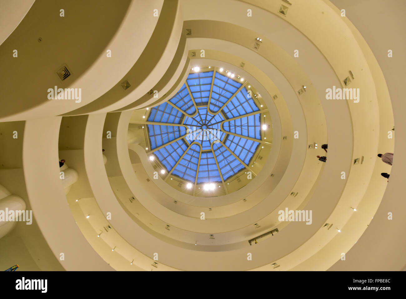 New York City - January 31, 2016: Interior of the famous Solomon R. Guggenheim Museum of modern and contemporary - Stock Image