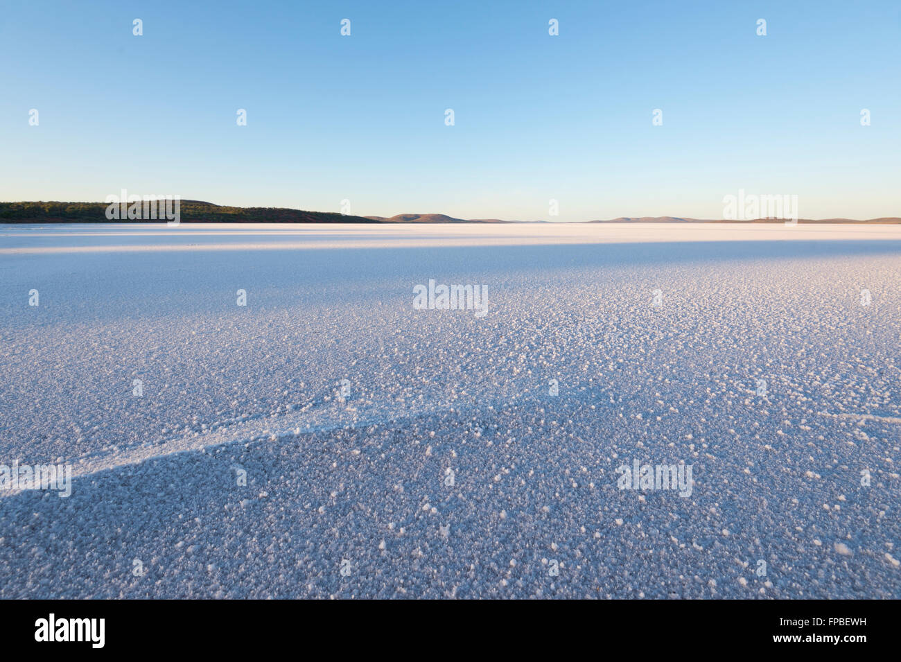 Dawn at Lake Gairdner, South Australia, SA, Australia - Stock Image