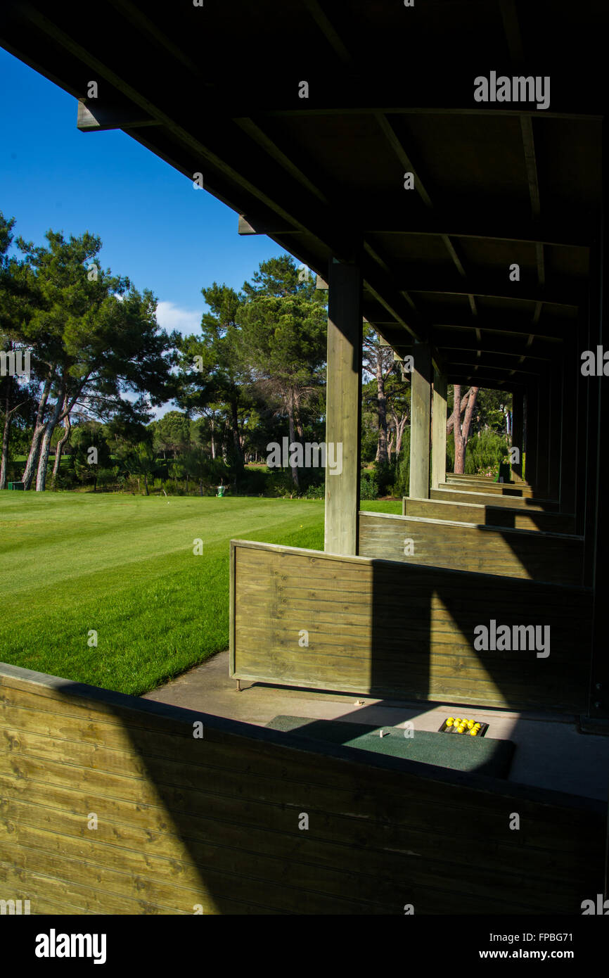 Views of the driving range - Stock Image