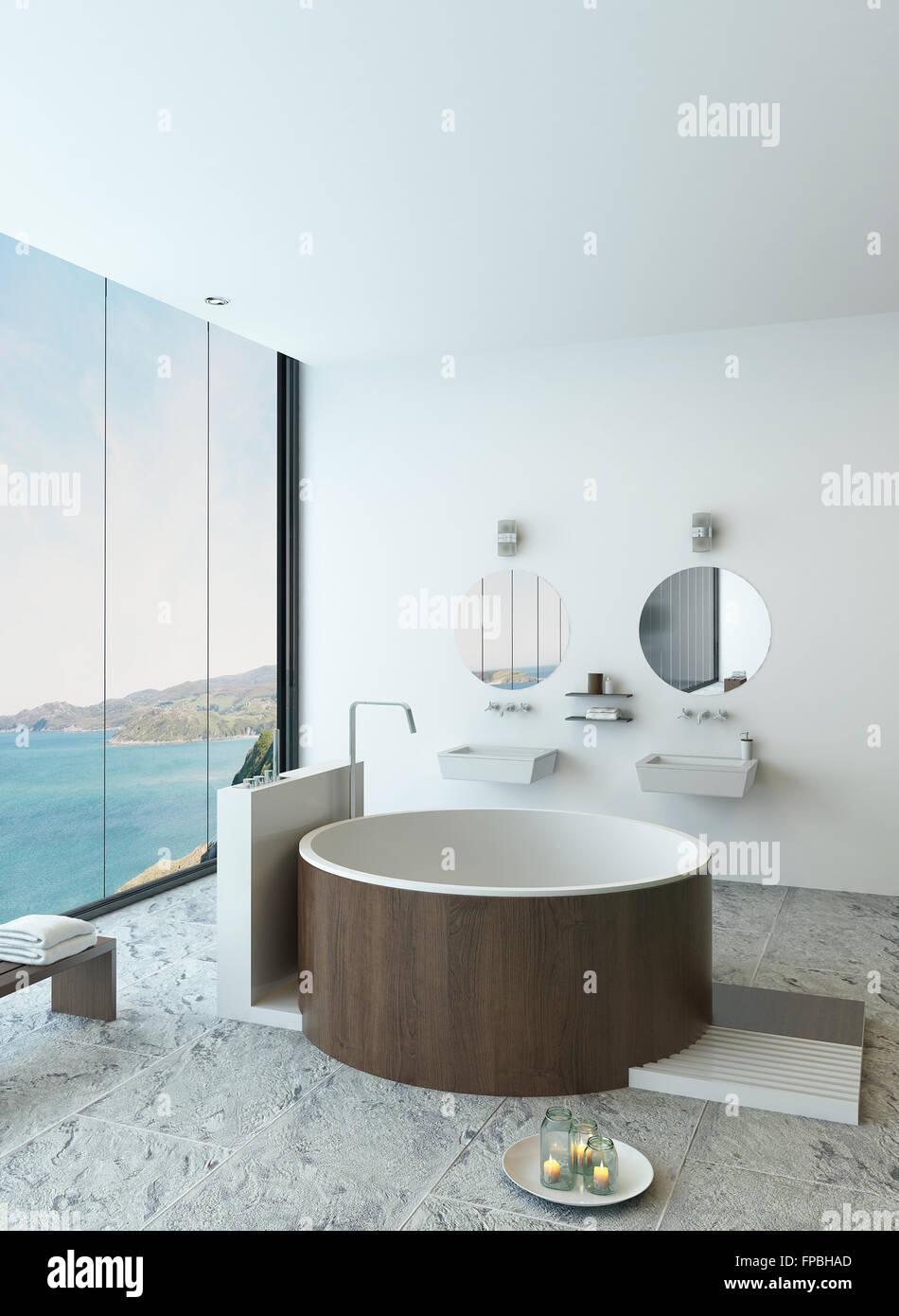 bathroom bathtub luxury design modern jacuzzi Stock Photo: 99829365 ...