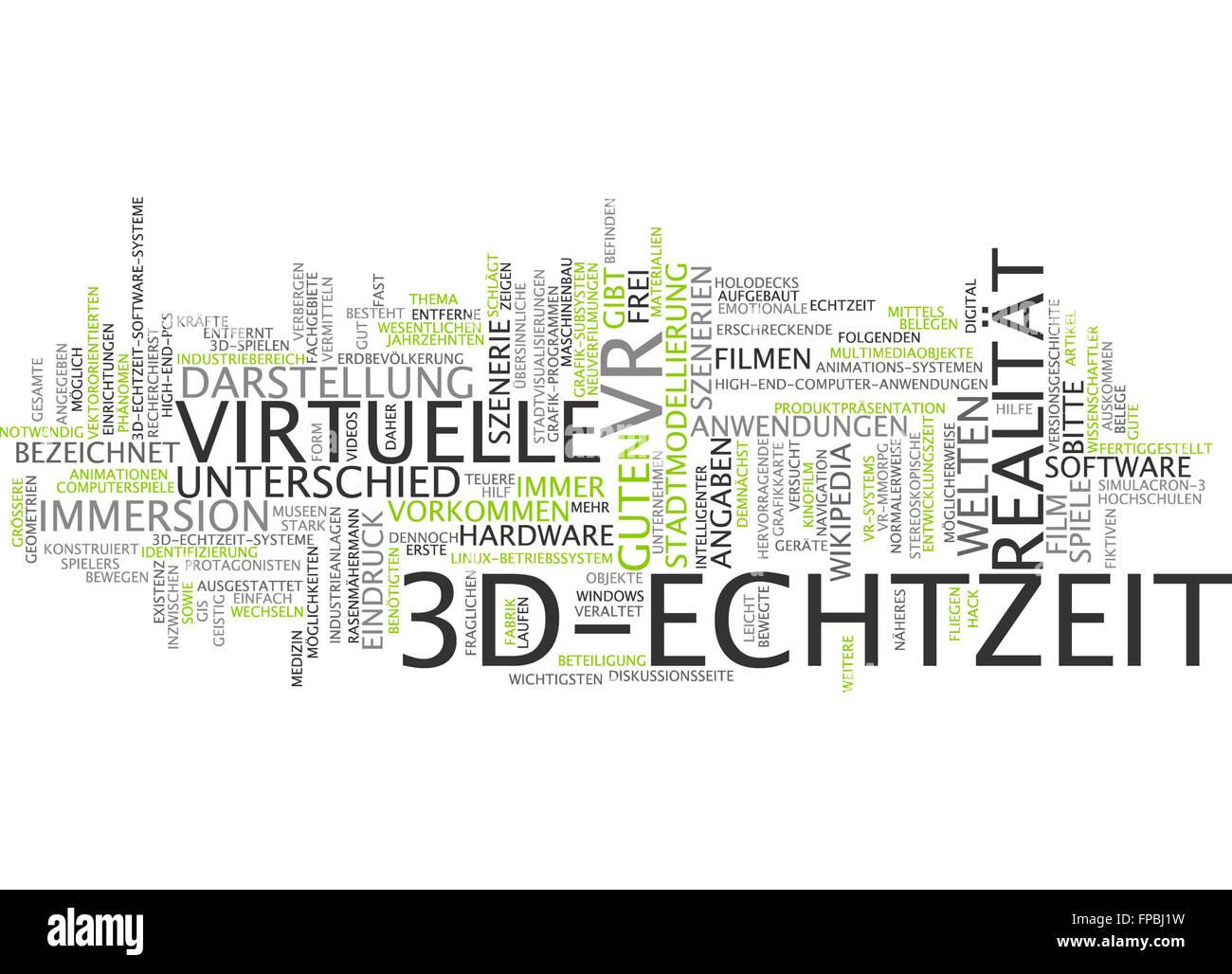3d echtzeit 3d-echtzeit realität virtuelle Stock Photo
