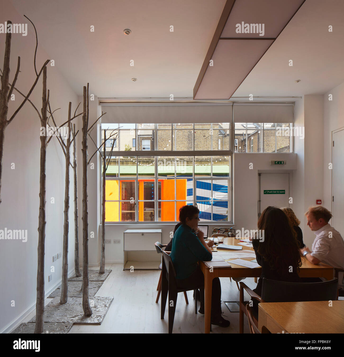 Multifunctional meeting room. DSDHA architectural office, London, United Kingdom. Architect: DSDHA, 2015. - Stock Image