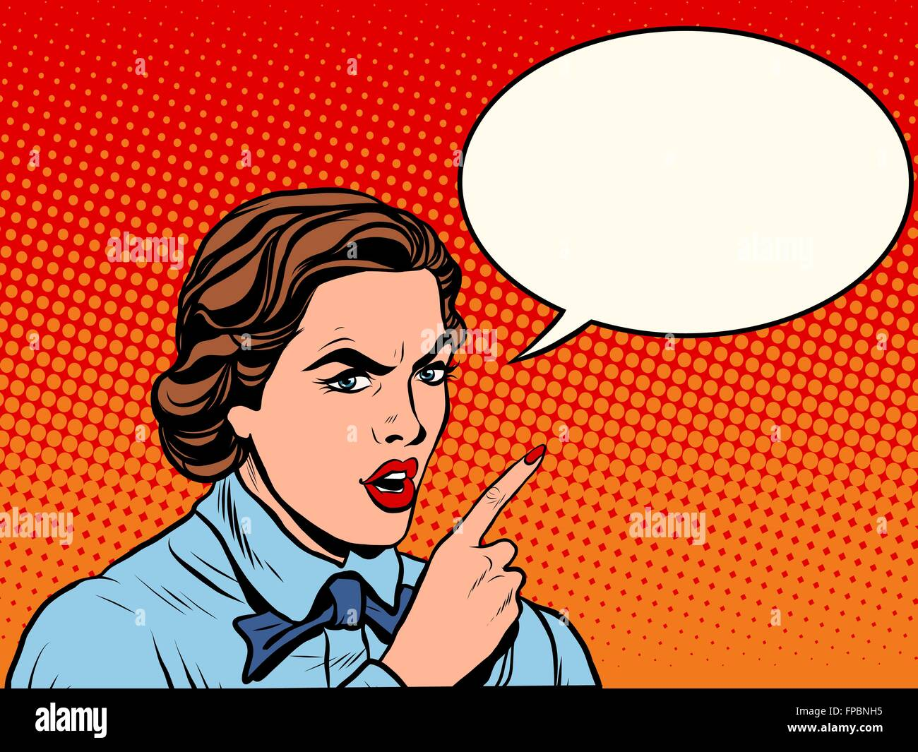 Attention serious girl - Stock Vector