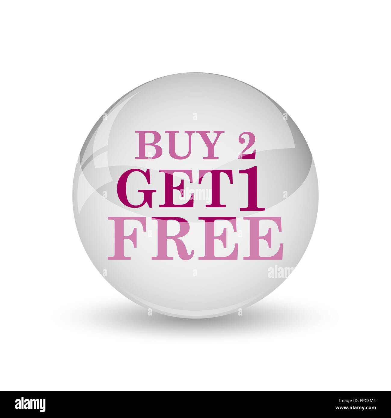 Buy 2 get 1 free offer icon  Internet button on white background