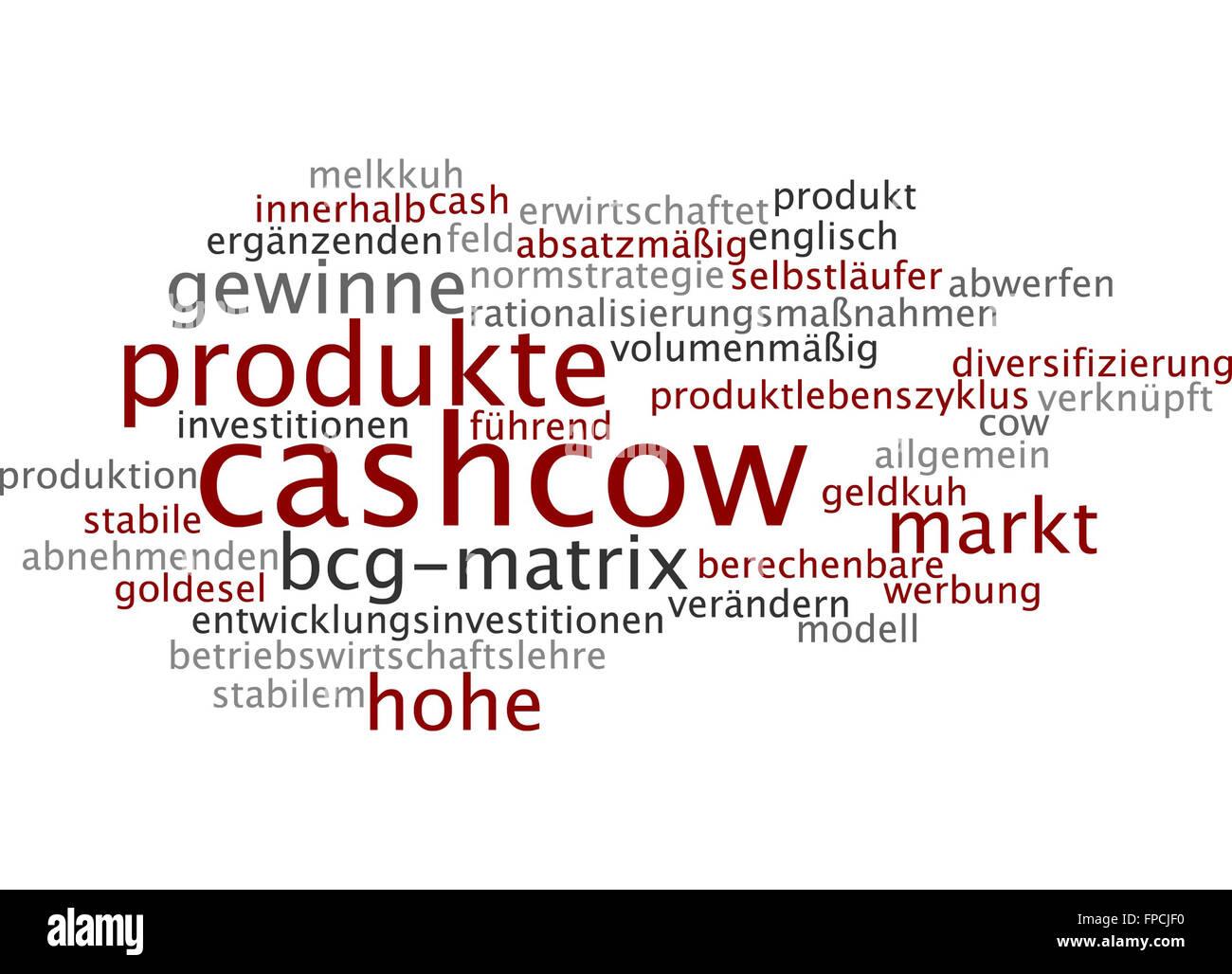 Cashcow Cashkuh Kuh Cow Cash Geld Gewinn Stock Photo