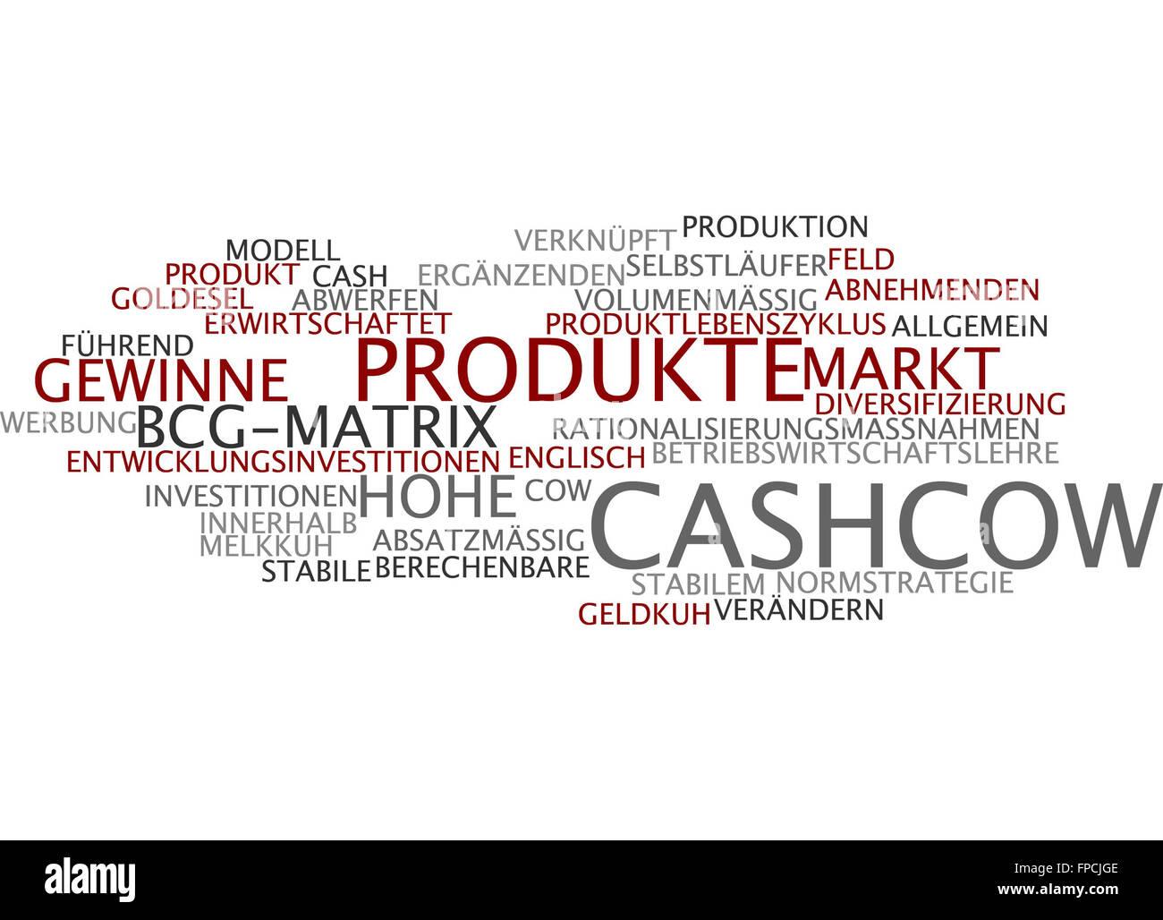 Cashcow Cashkuh Kuh Cow Cash Geld Gewinn - Stock Image