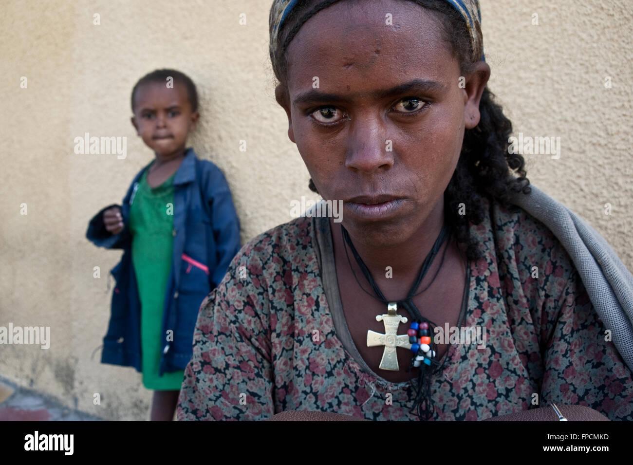 Beggars ( Ethiopia) - Stock Image