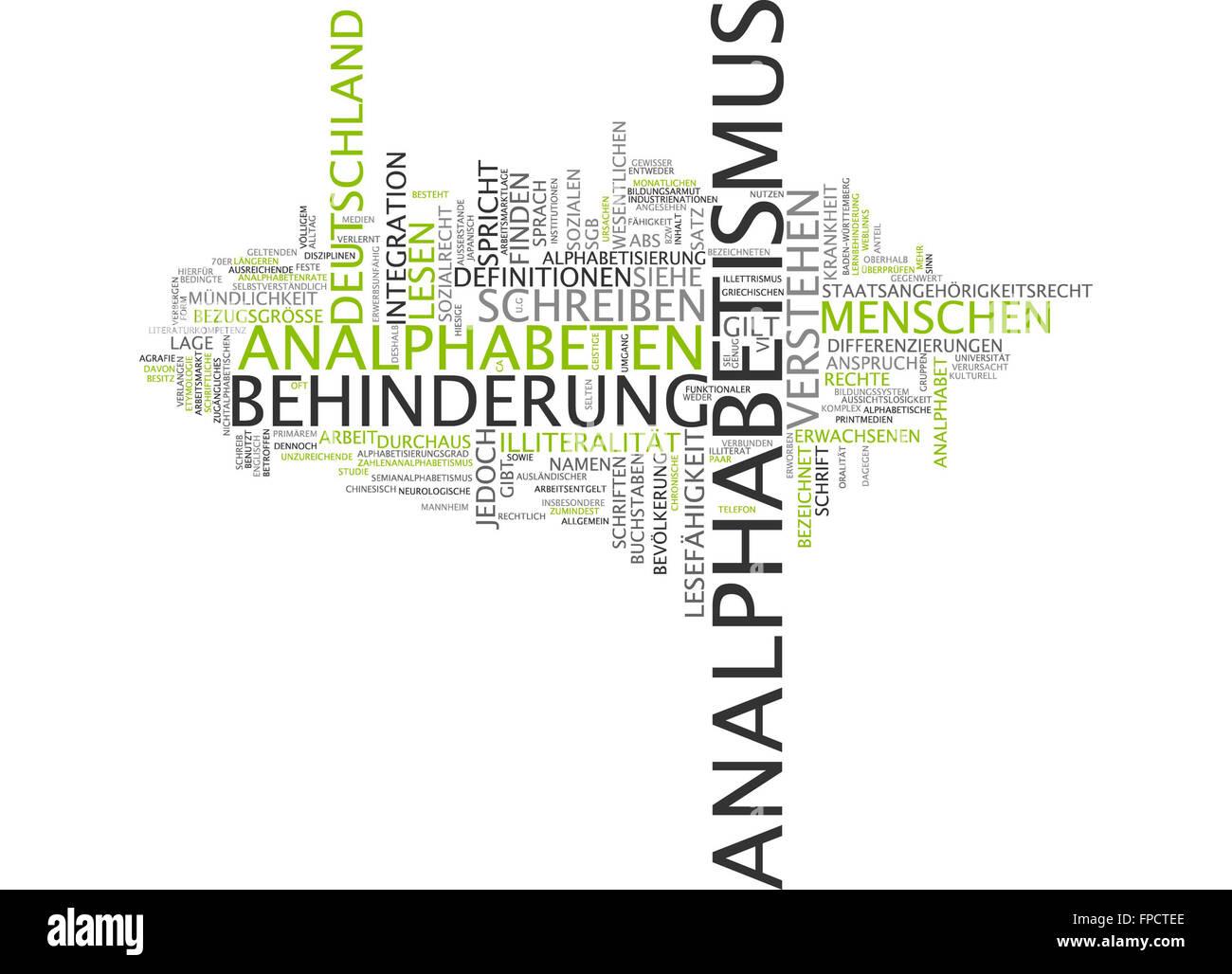 analphabetismus behinderung deutschland lesen Stock Photo