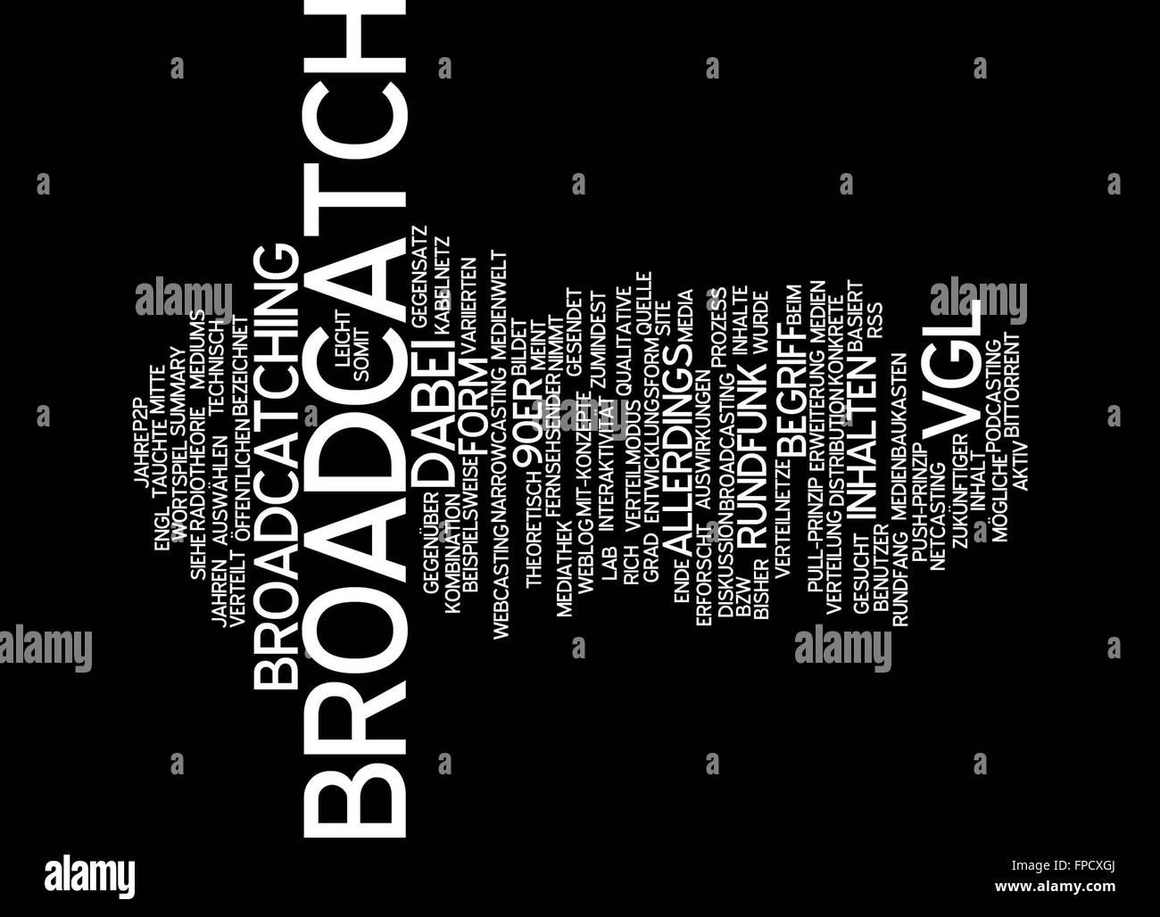 broadcatch form vgl inhalt inhalte rundfunk Stock Photo