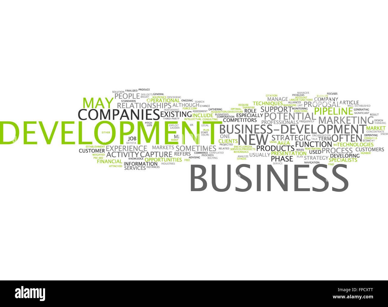 business development bud company companies - Stock Image
