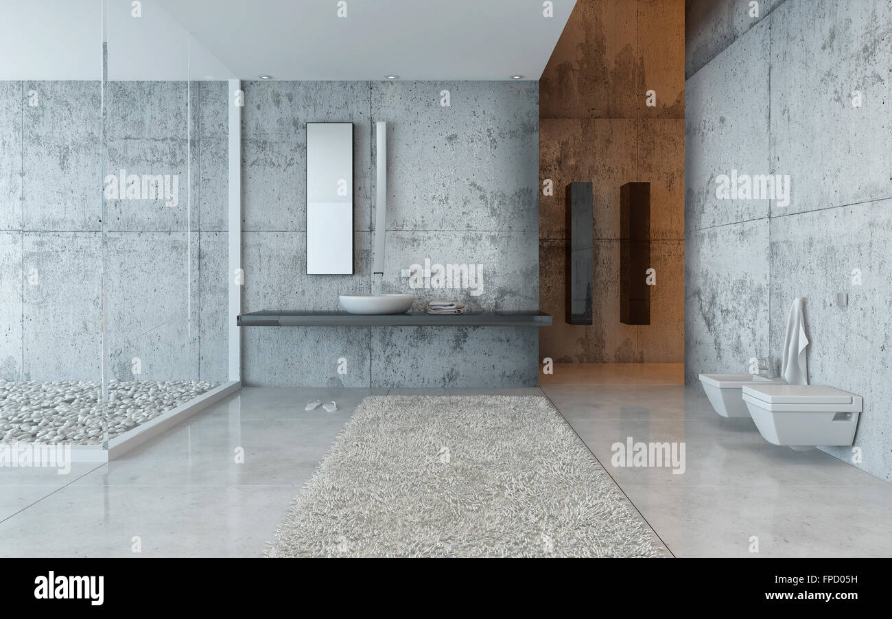 In Cement Abstract Bathroom Wall Stock Photos & In Cement Abstract ...