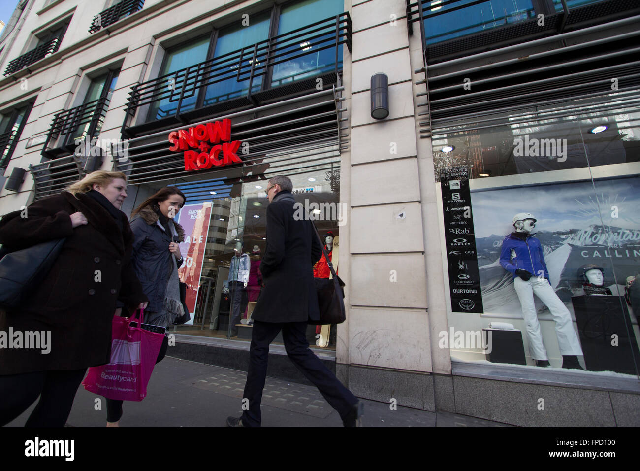 Snow and Rock outdoor sports retail outlet, London, UK - Stock Image
