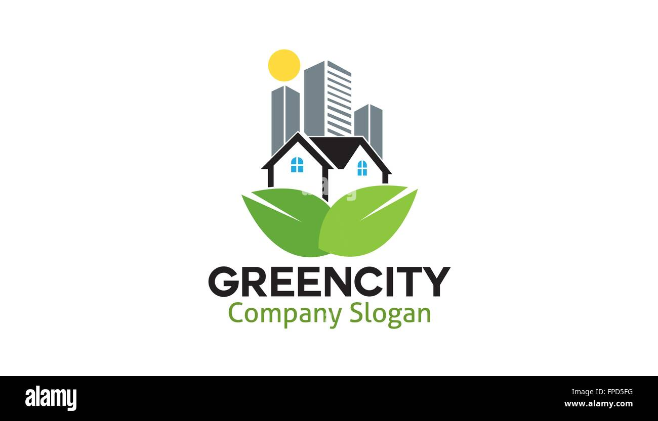 Green City Design Illustration - Stock Vector