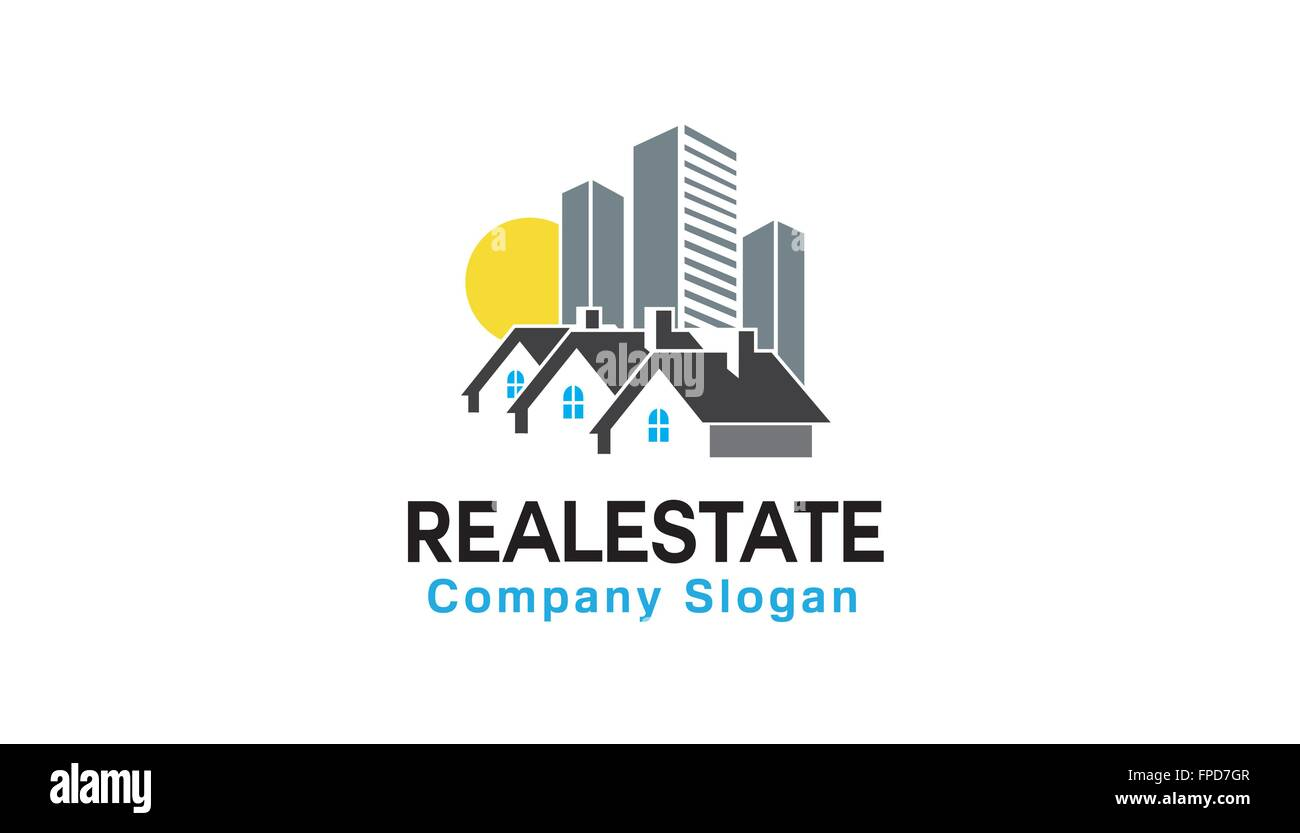 Real Estate Design Illustration - Stock Vector