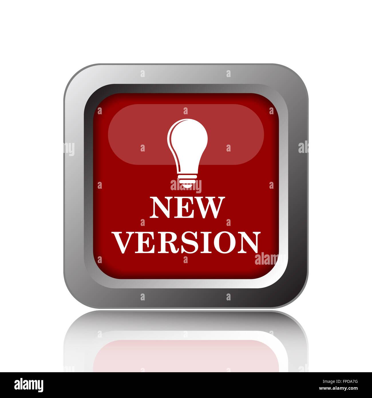 New version icon. Internet button on white background - Stock Image