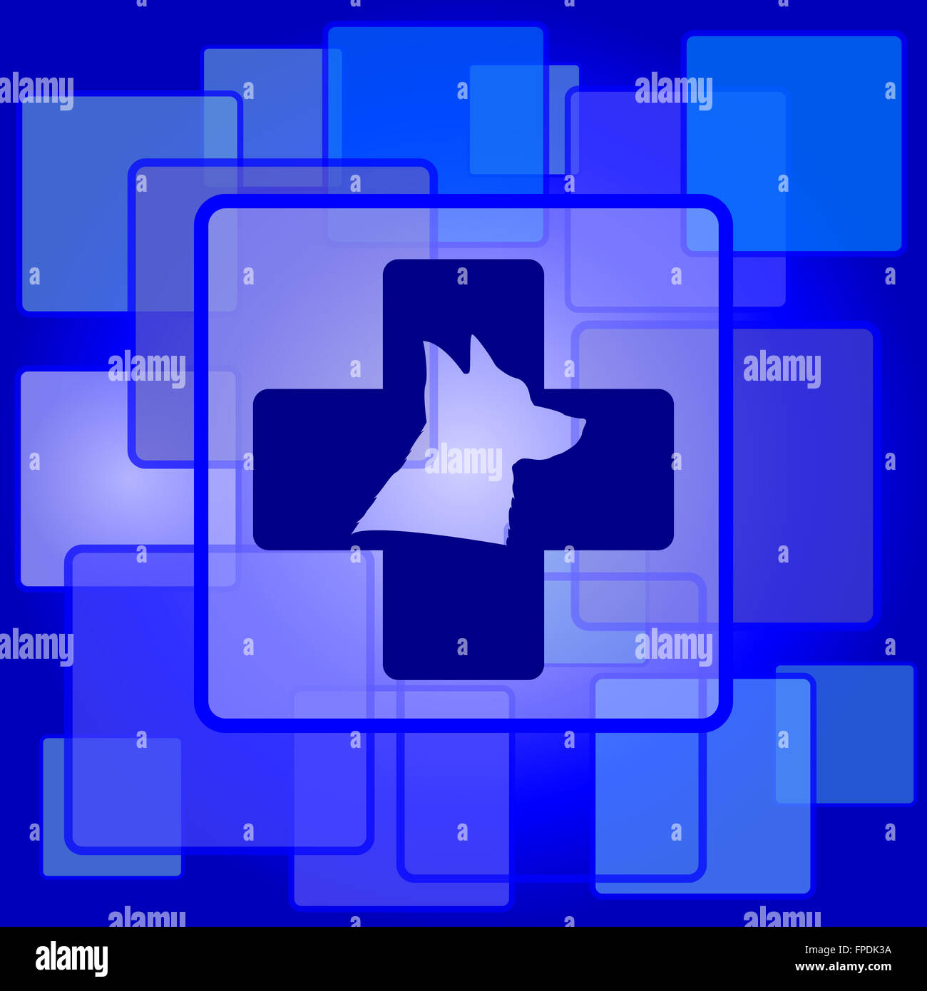 Veterinary icon. Internet button on abstract background. - Stock Image