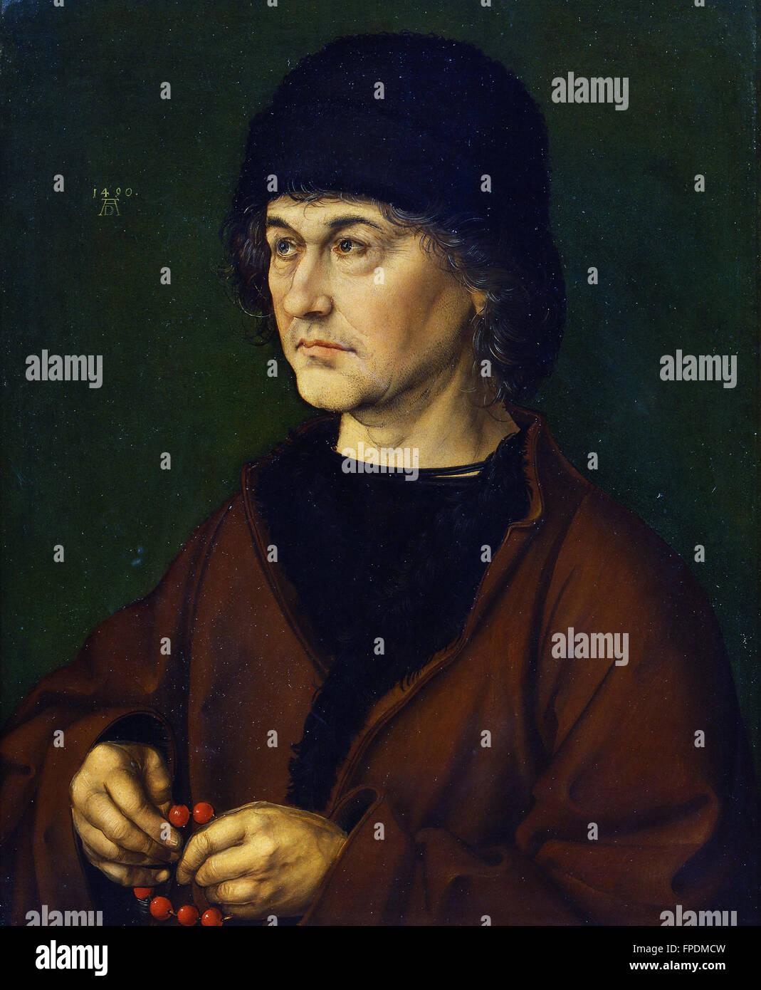 Albrecht Durer - Ritratto del padre - Stock Image