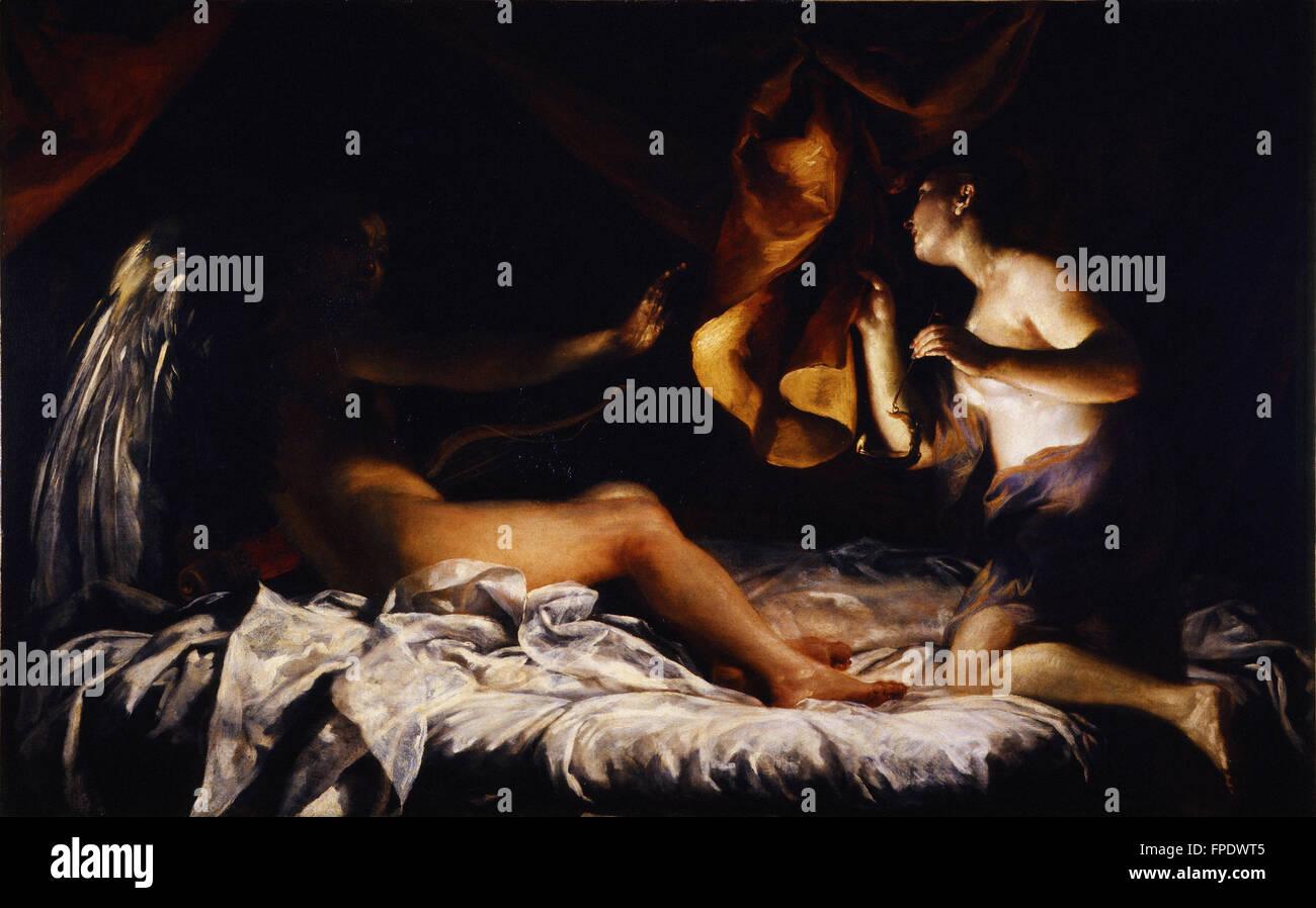Giuseppe Maria Crespi - Amore e Psiche - Stock Image