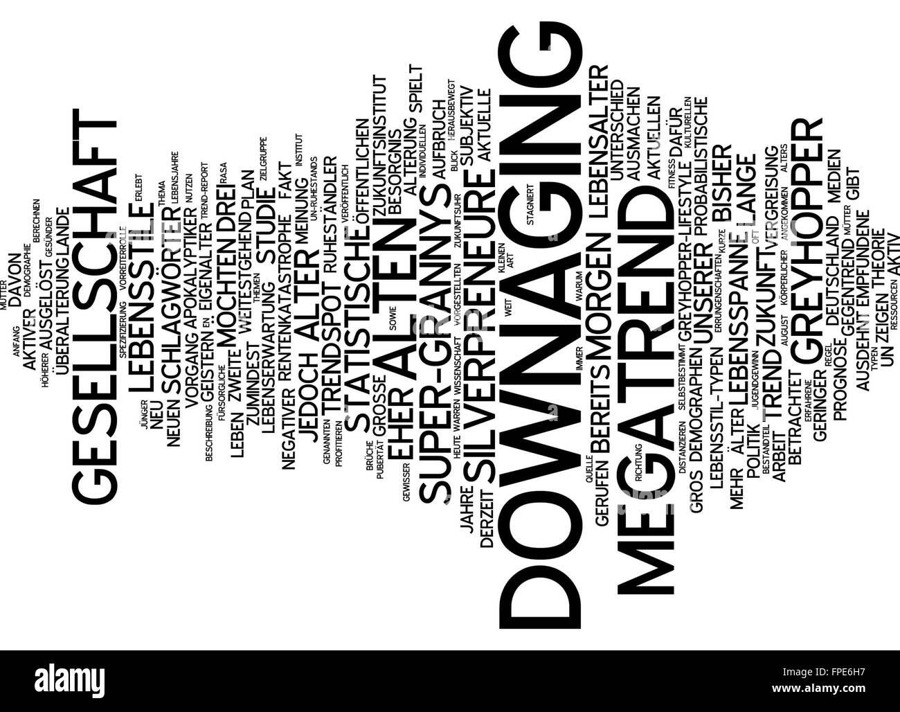 downaging downage megatrend trend zukunft Stock Photo