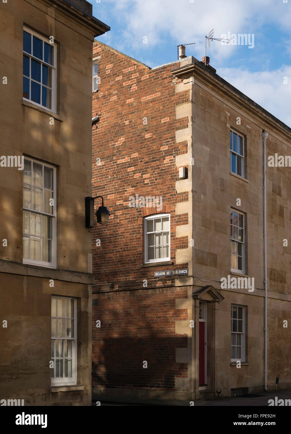 St John Street Oxford England Uk Bath Stone Fronted Terrace Stock Image