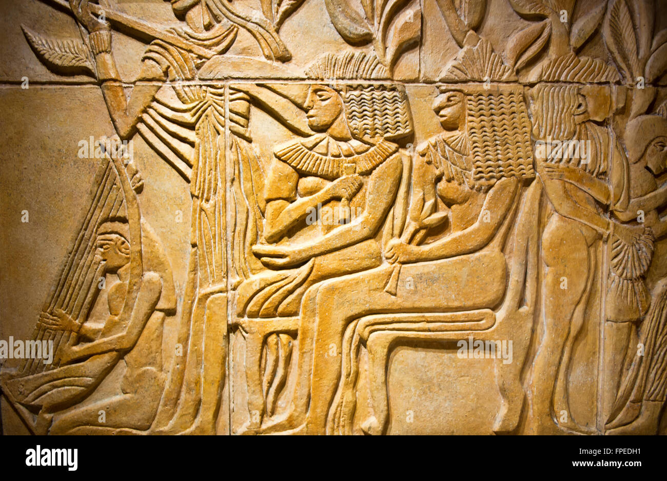 Ancient egyptian relief carving stock photos
