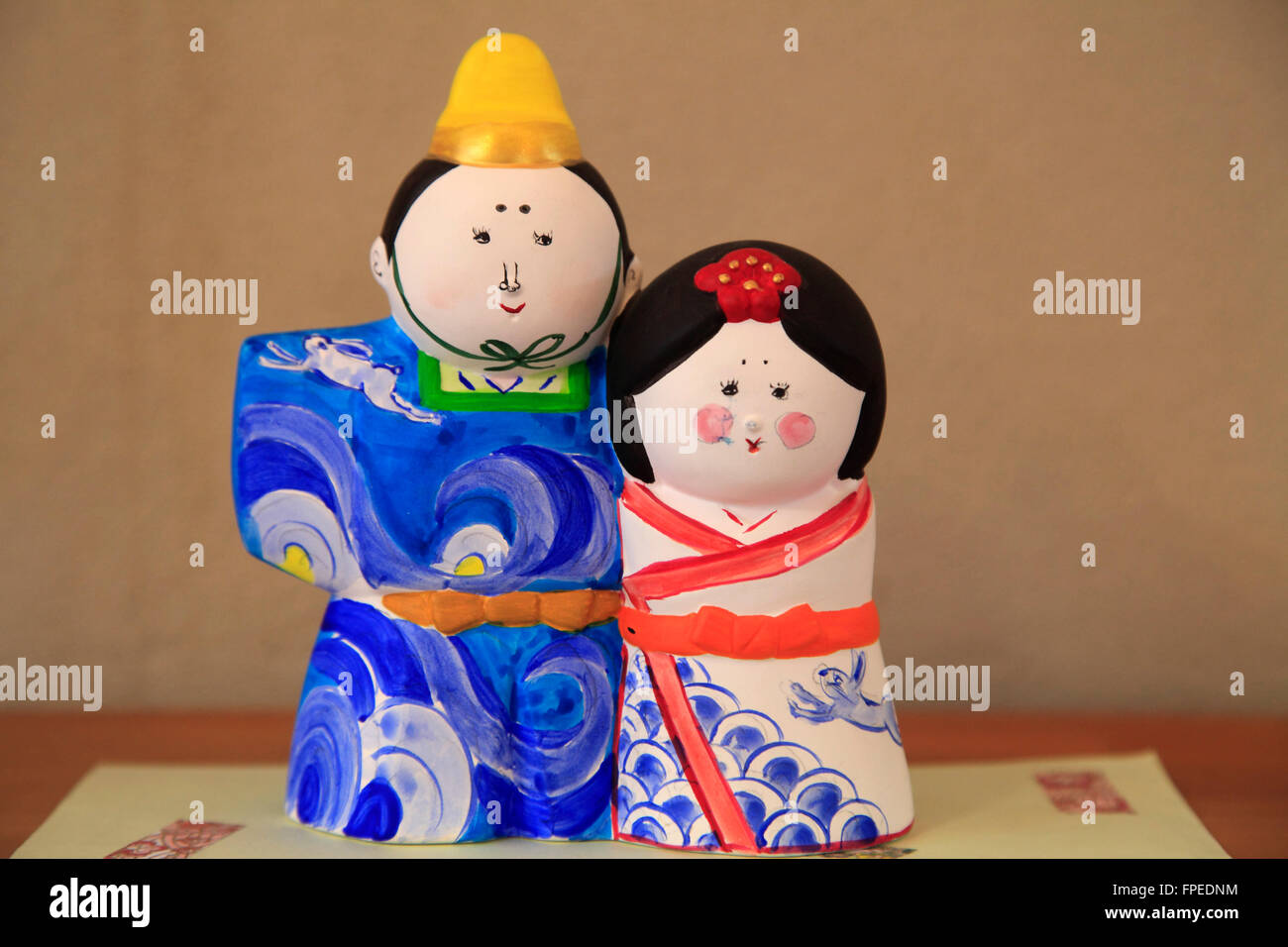 Japan; Seto City, Aichi Prefecture, ceramics, dolls, - Stock Image