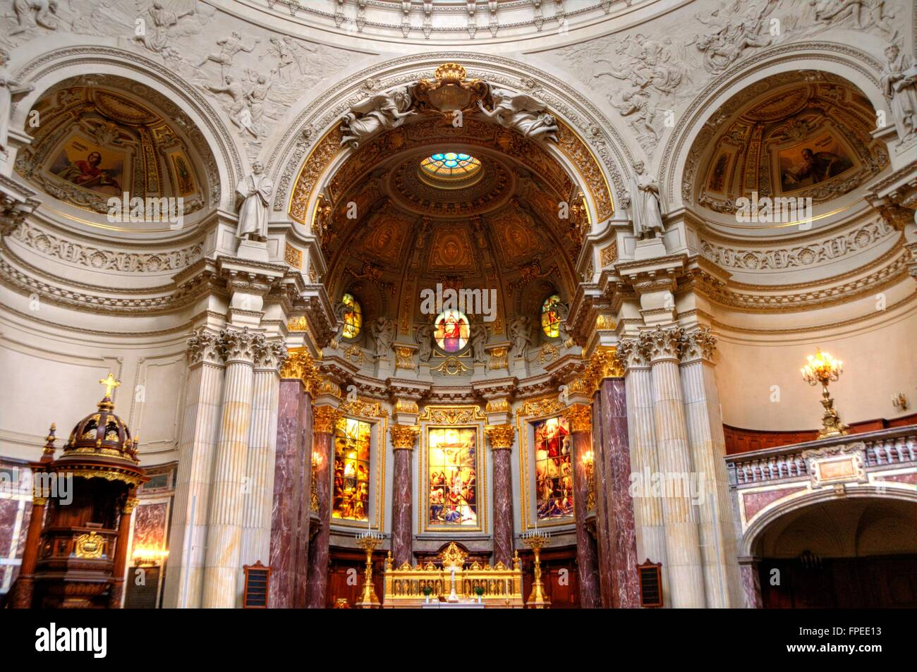 Berlin Berliner Dom innenaufnahme Kathedrale - Stock Image