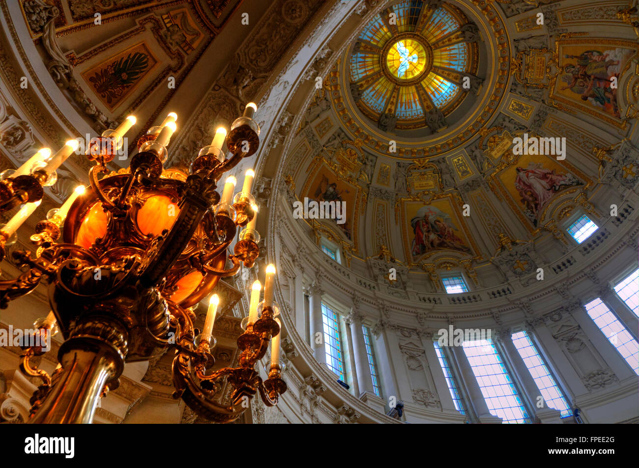 Berlin Berliner Dom innenaufnahme Kathedrale Stock Photo