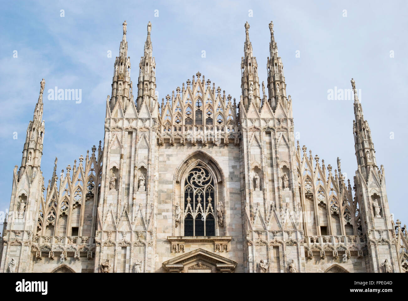 Milan. Metropolitan Cathedral of the Nativity of Saint Mary - Stock Image