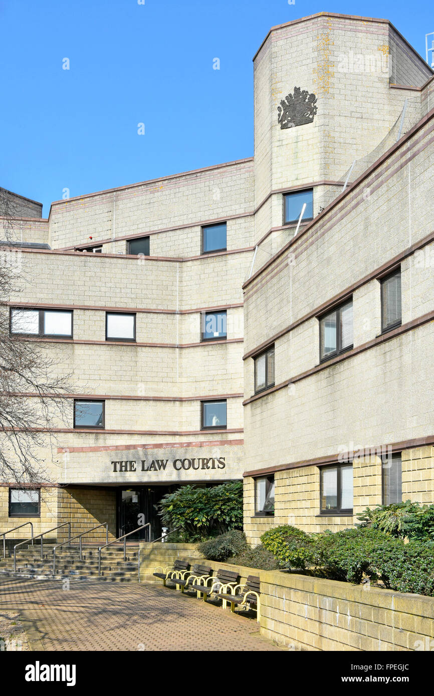 The Law Courts building in Croydon in south London England UK includes County Court & Family Court as well as - Stock Image