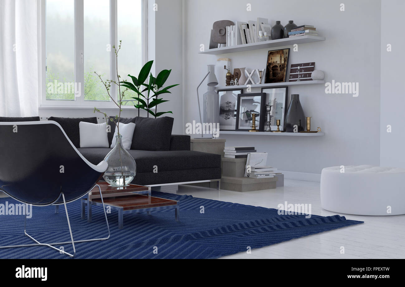 Cozy Lounge Interior In A Modern House With A Corner