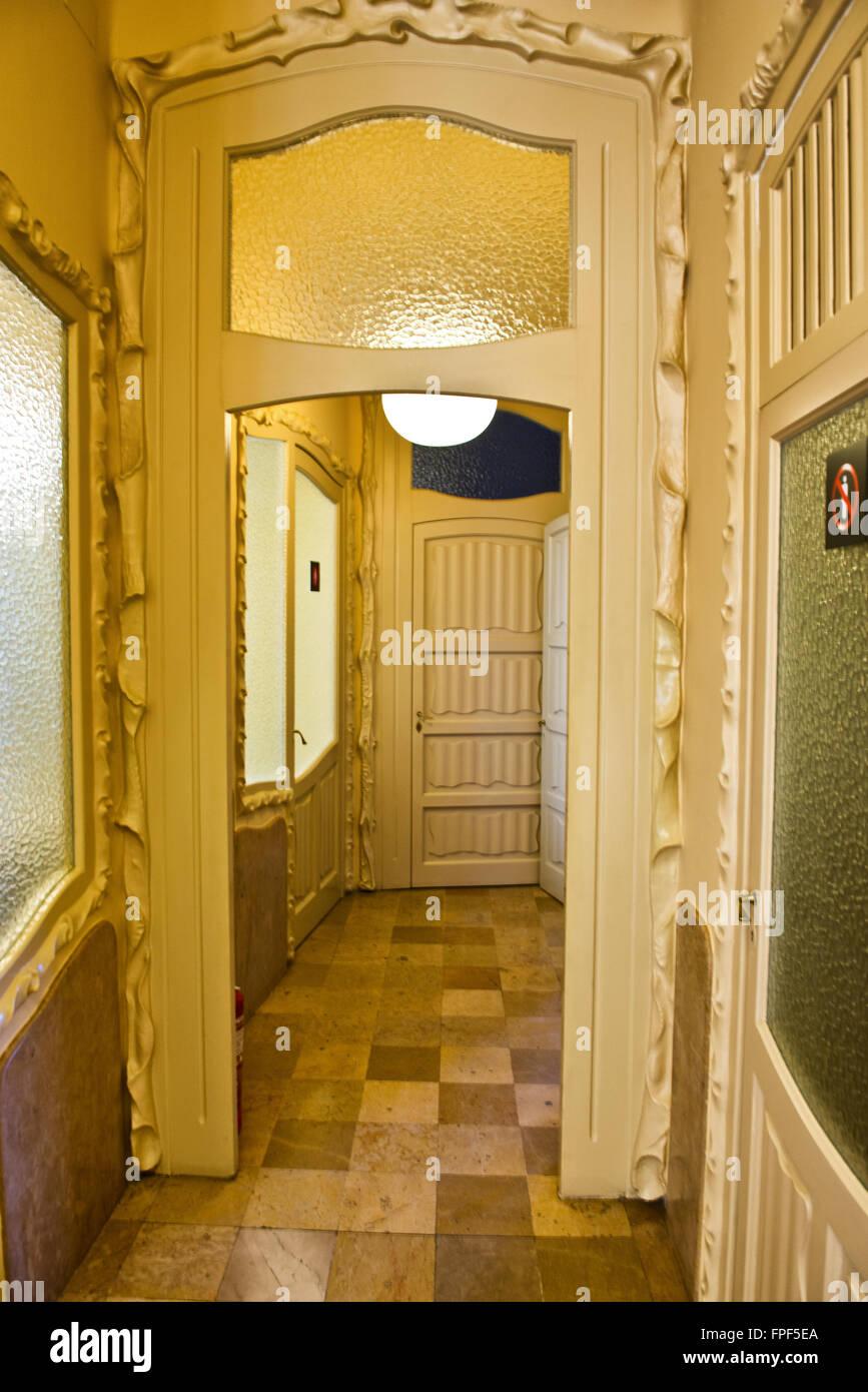 Interior Detail of Casa Mila Designed by Antoni Gaudi - Decorative ...